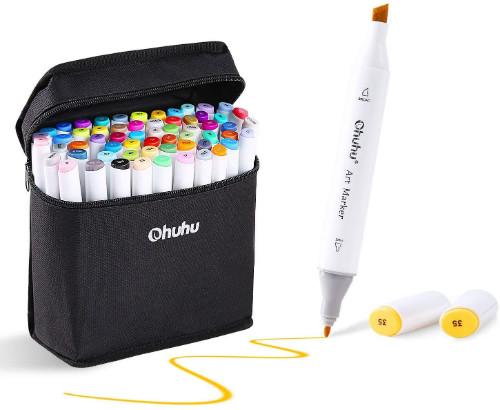 Ohuhu 80 Double Ended Colors