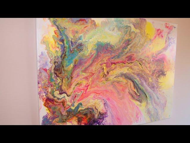 La belleza del color (Cuadro abstracto efecto mármol)