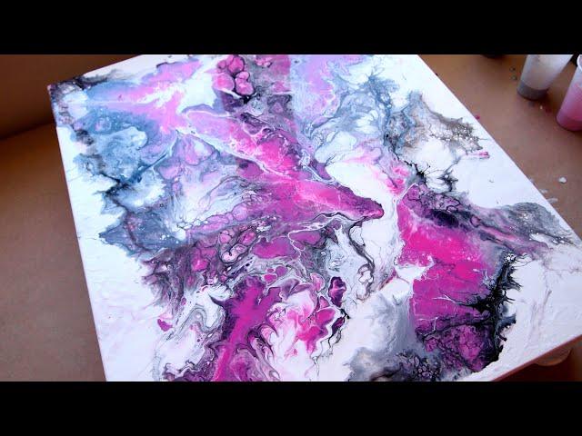 """""""Amor de hermana"""" Pintura abstracta en negro y rosa"""