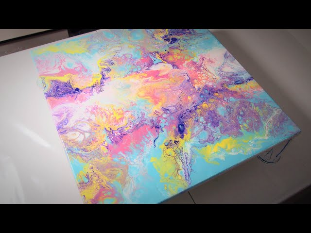 Delicada Alegría (Abstract Acrylic Painting)