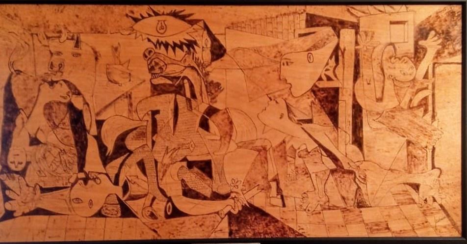Pirograbado del Guernica