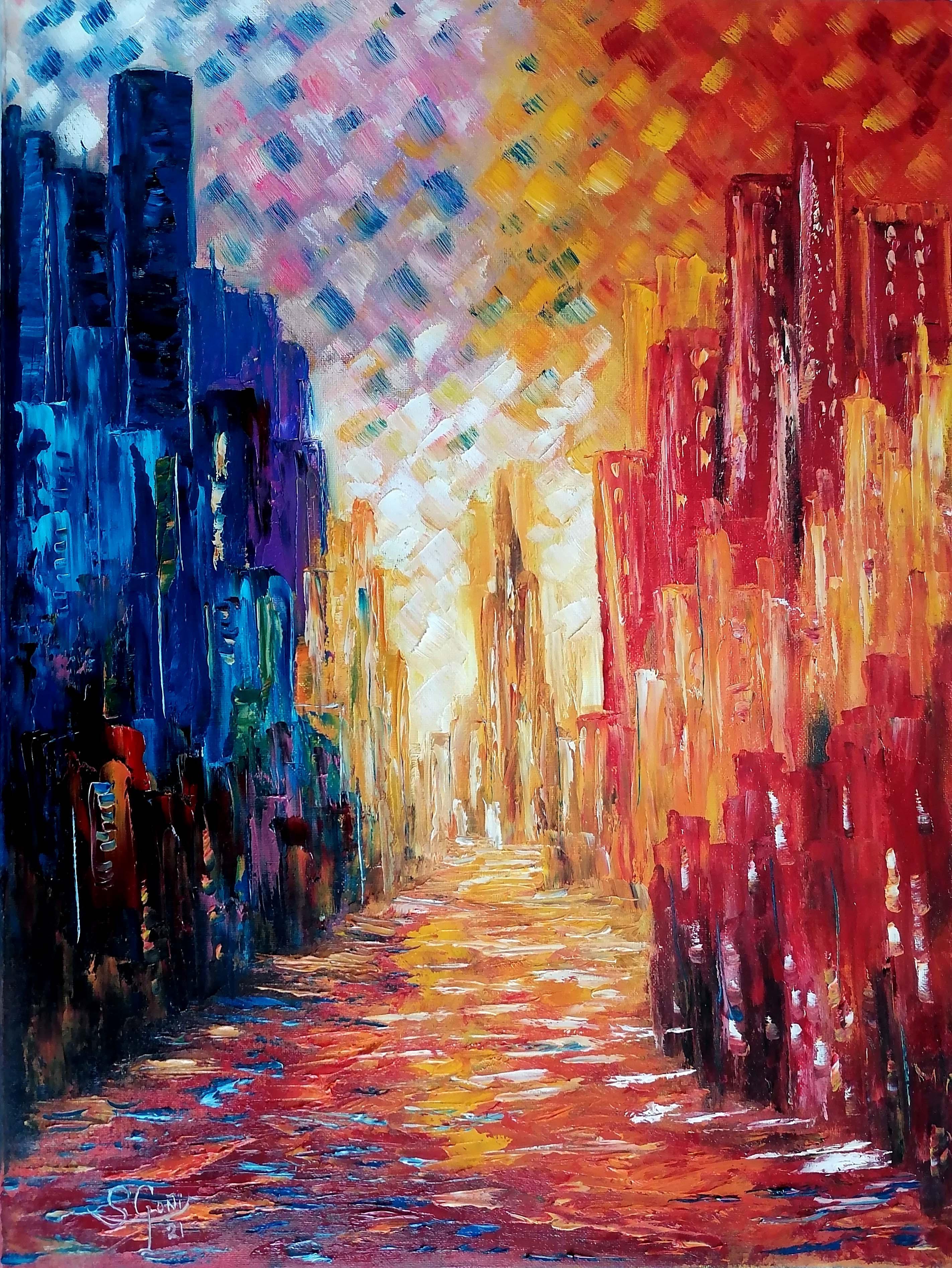 Ciudad colorista.