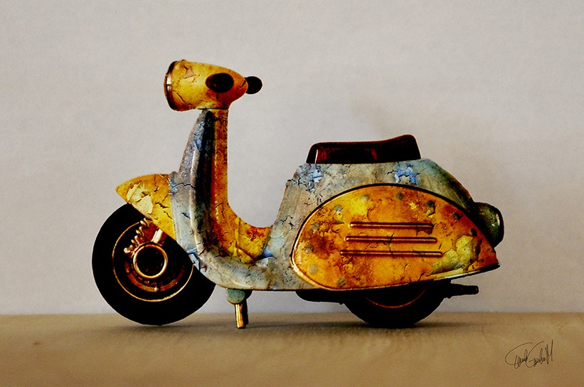 Rusty scooter