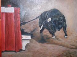 Toro De Lidia Cuadro Original óleo Sobre Lienzo Comprar Cuadros