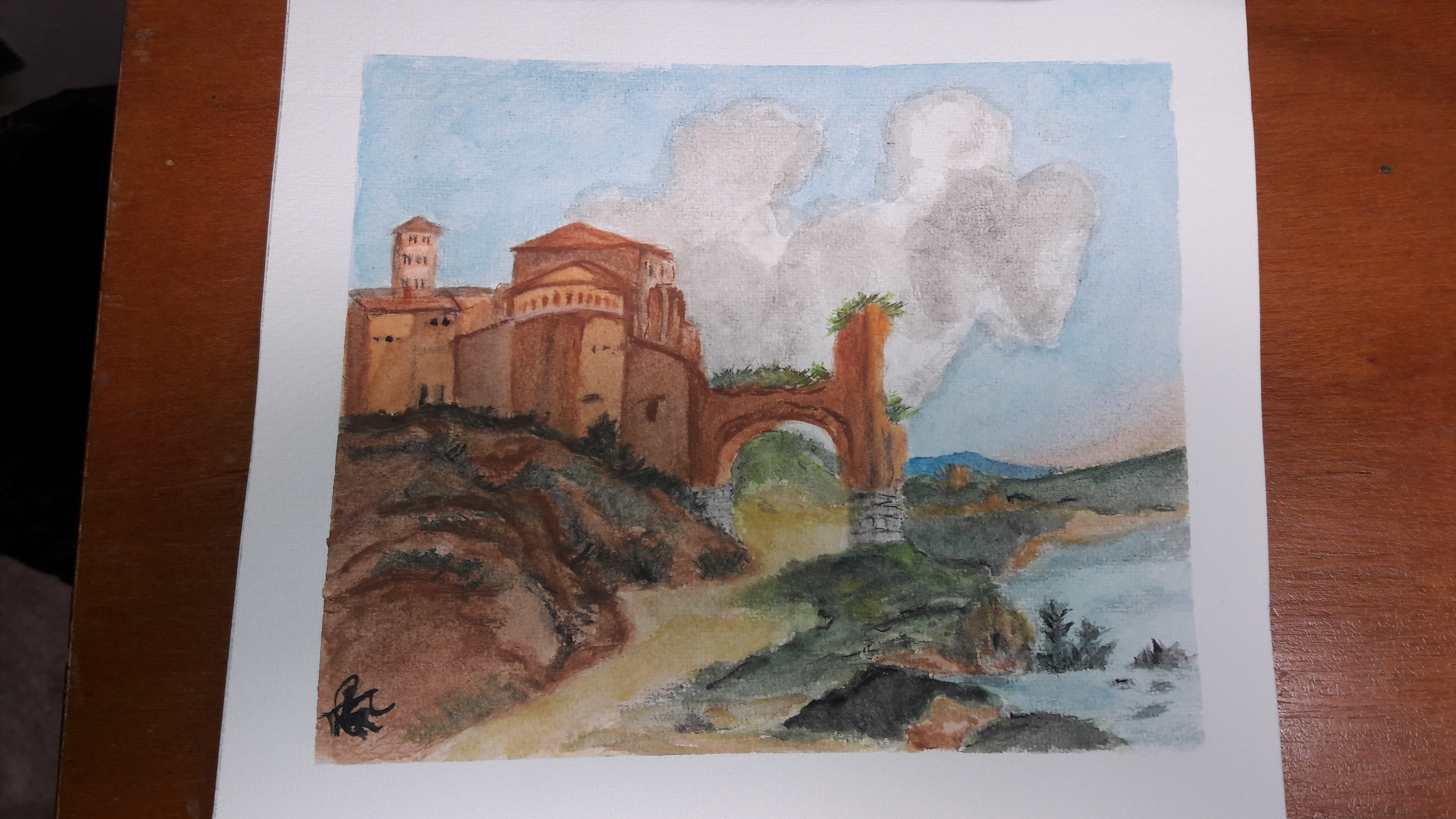Paisaje de monasterio romano (adapatación)