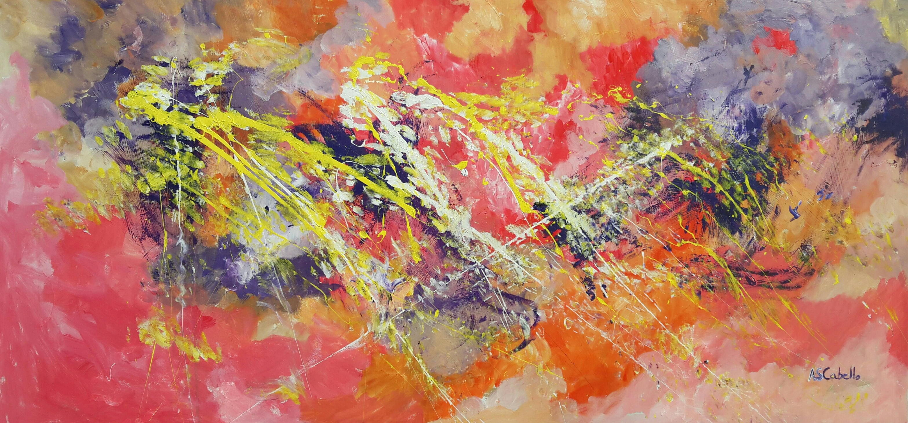 Abstract vision 160X80 CM.