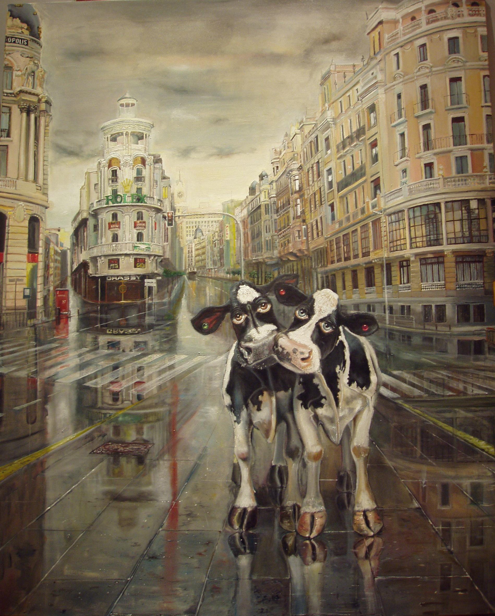 Par de Vacas , Madrid Gran Via