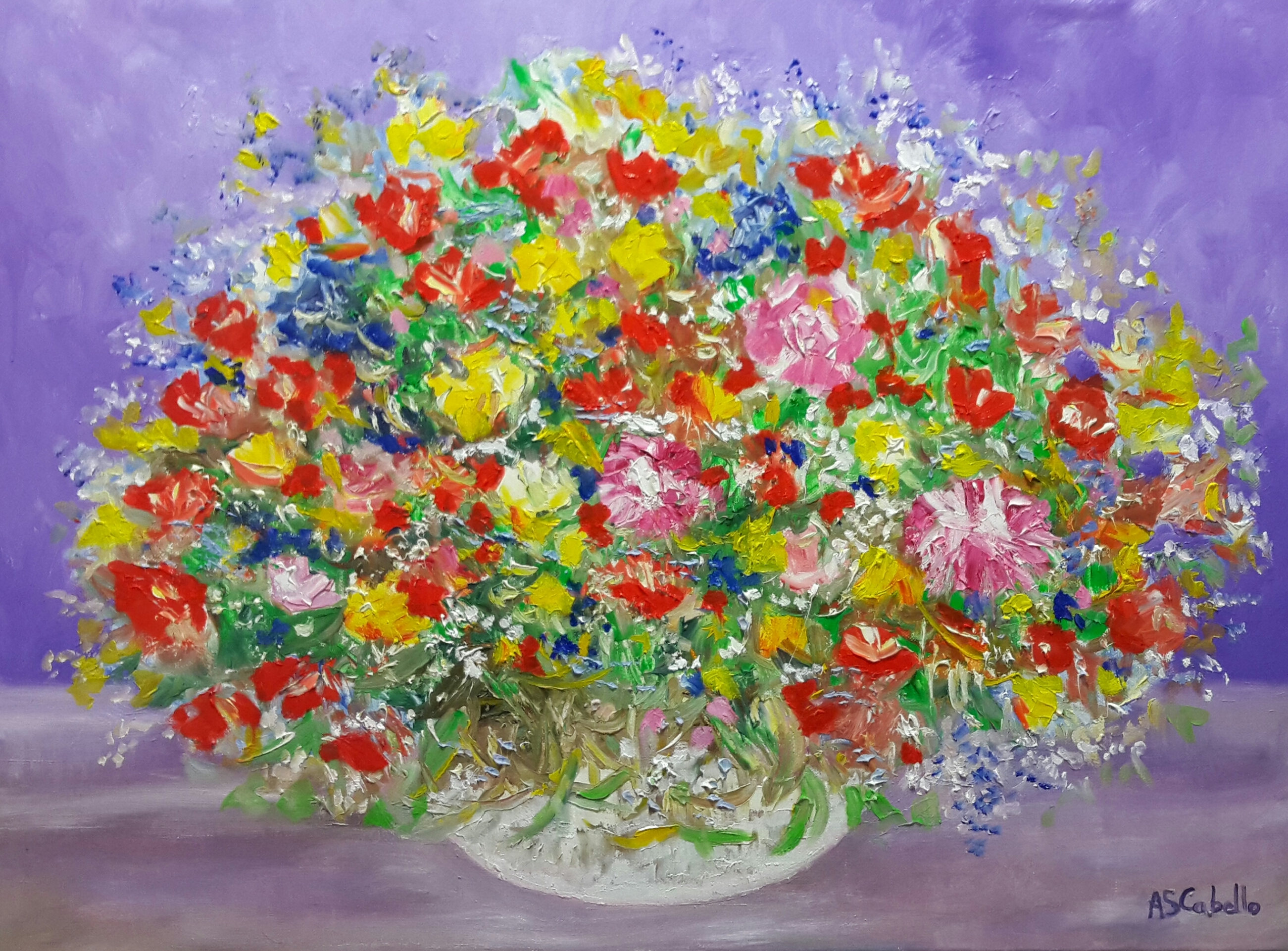 Colorido en el florero
