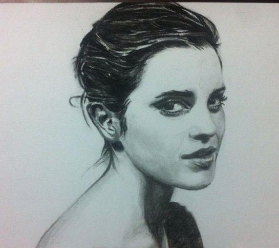 Emma Watson Charcoal