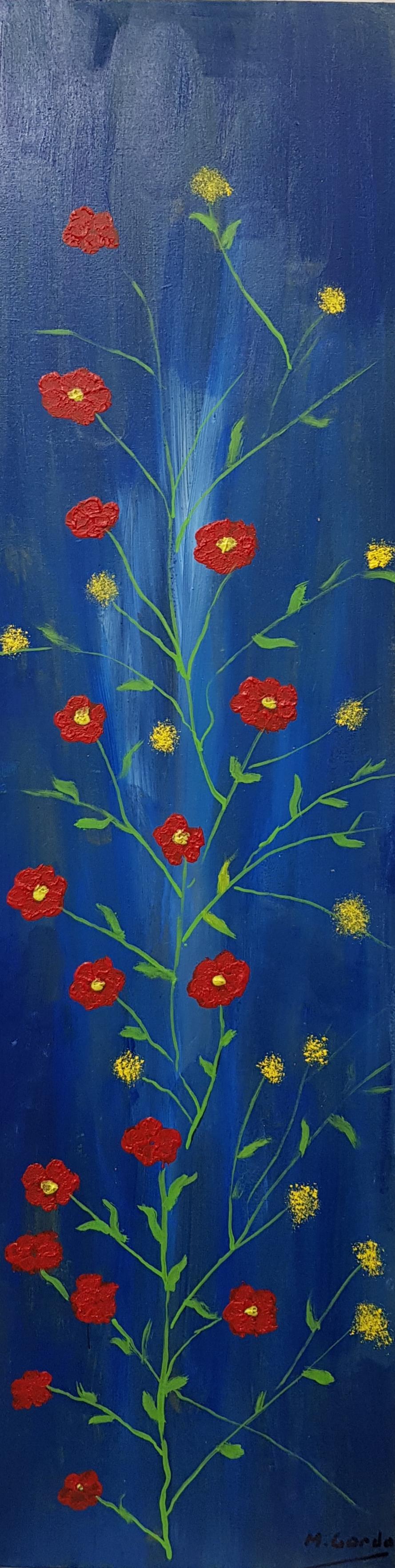 Flores. 6 rojas