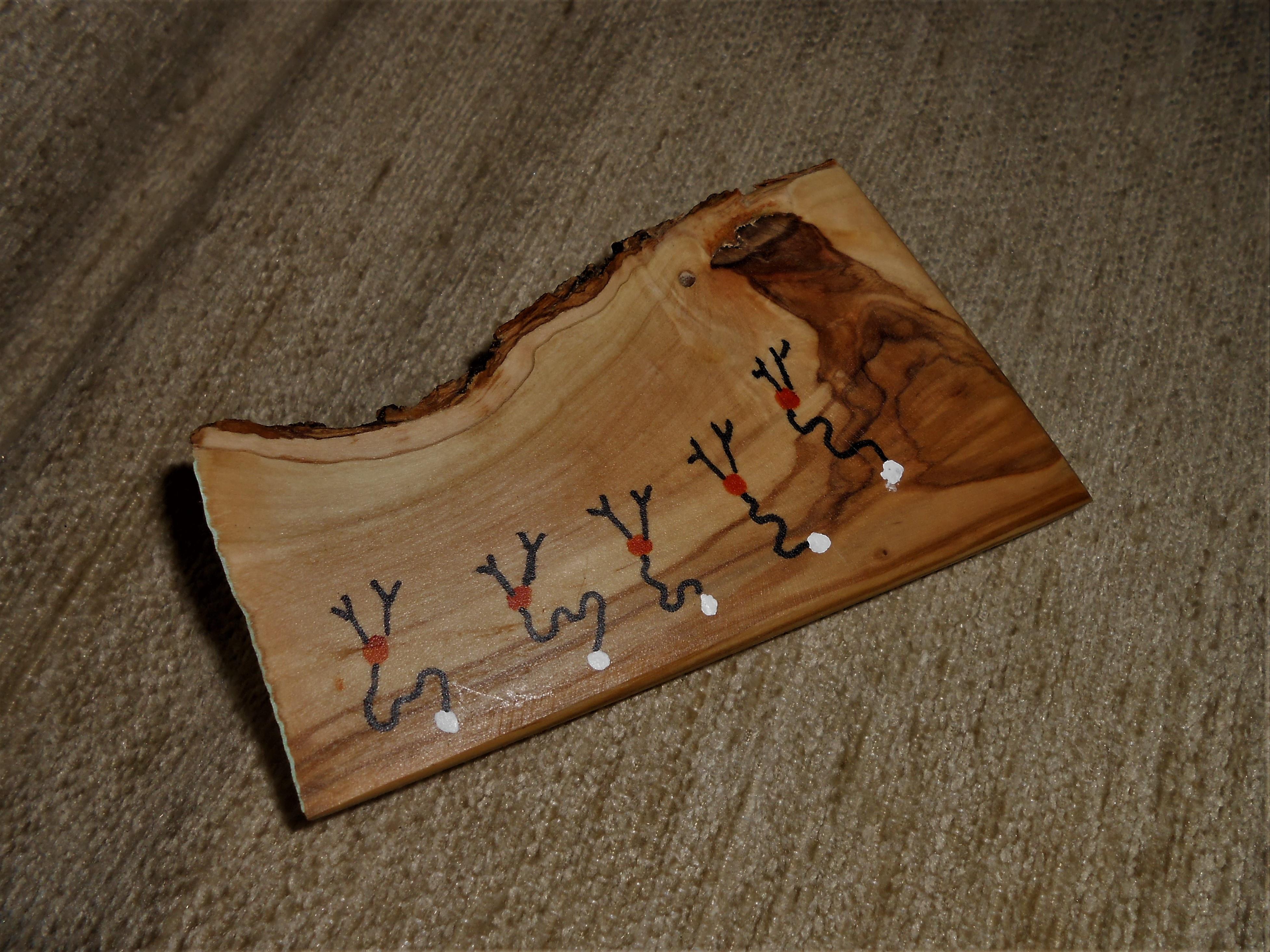Olive wood stick 3 (incense holder)