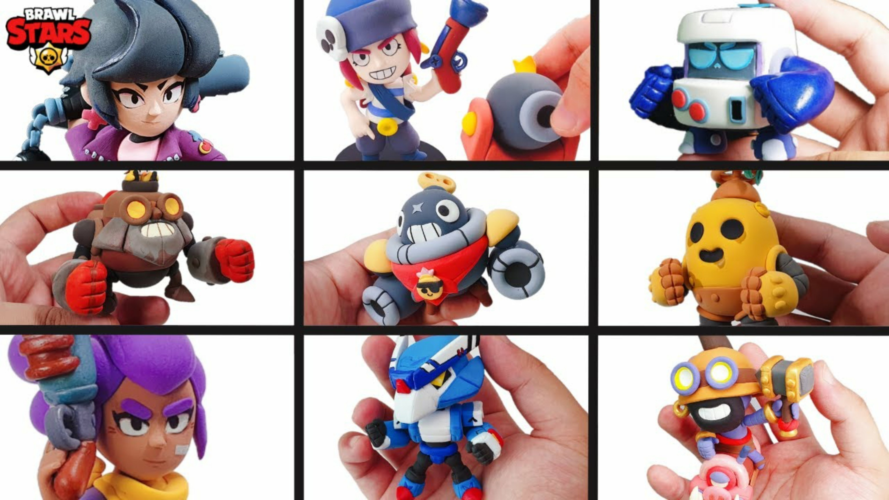 Brawl Stars Figures, handmade with polymer clay - Several options available