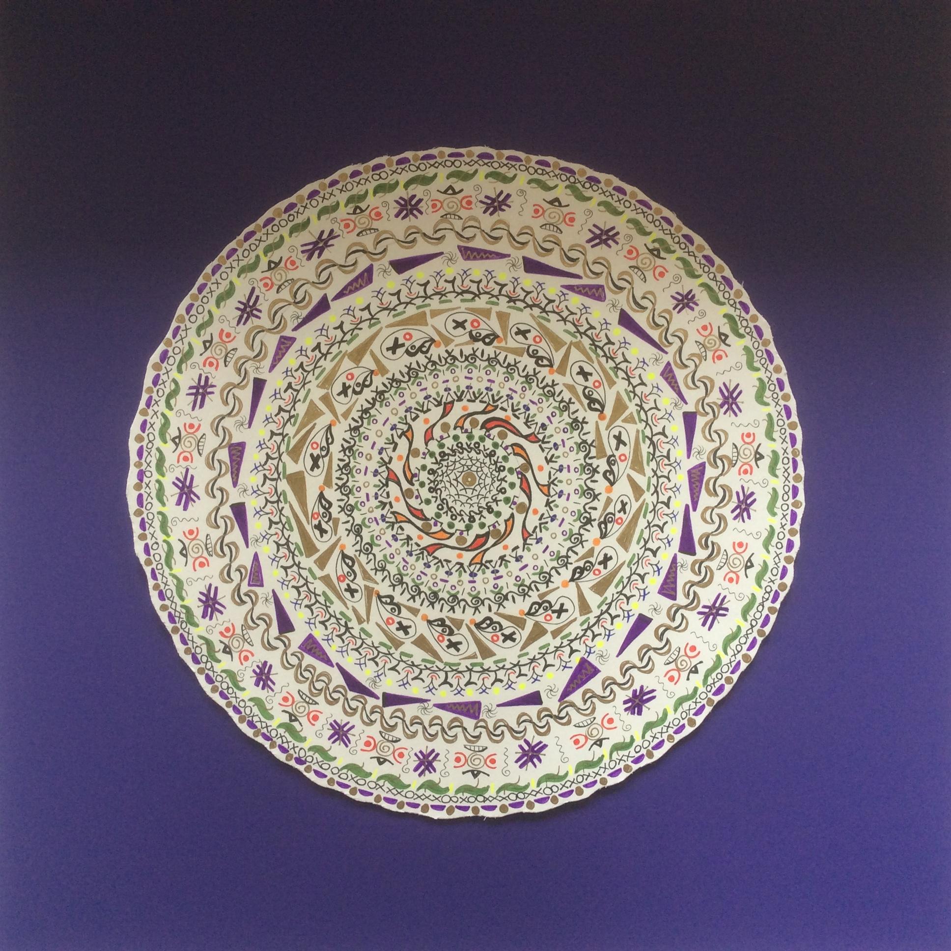 Mandala originally dark purple background