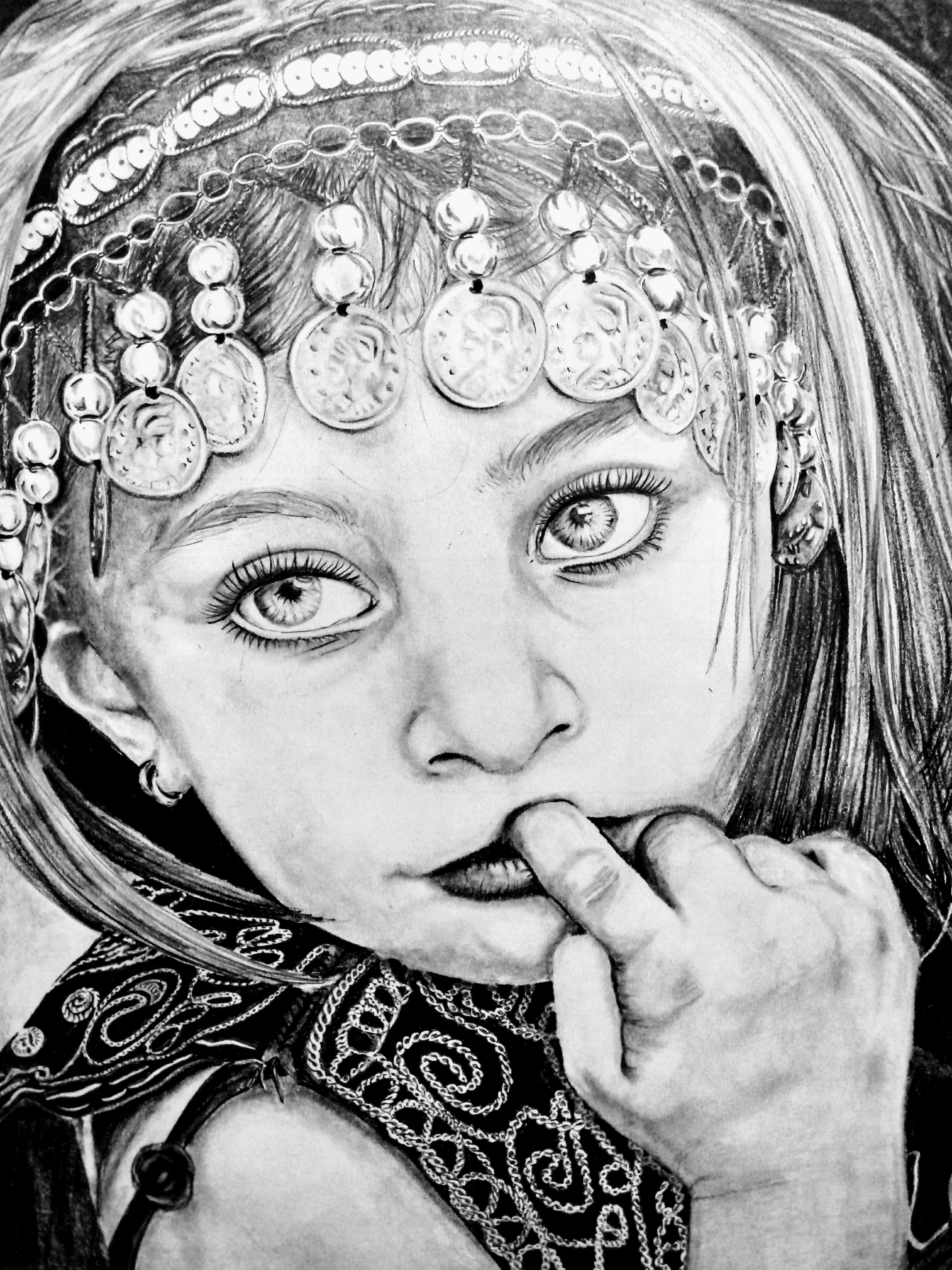 Little arab girl