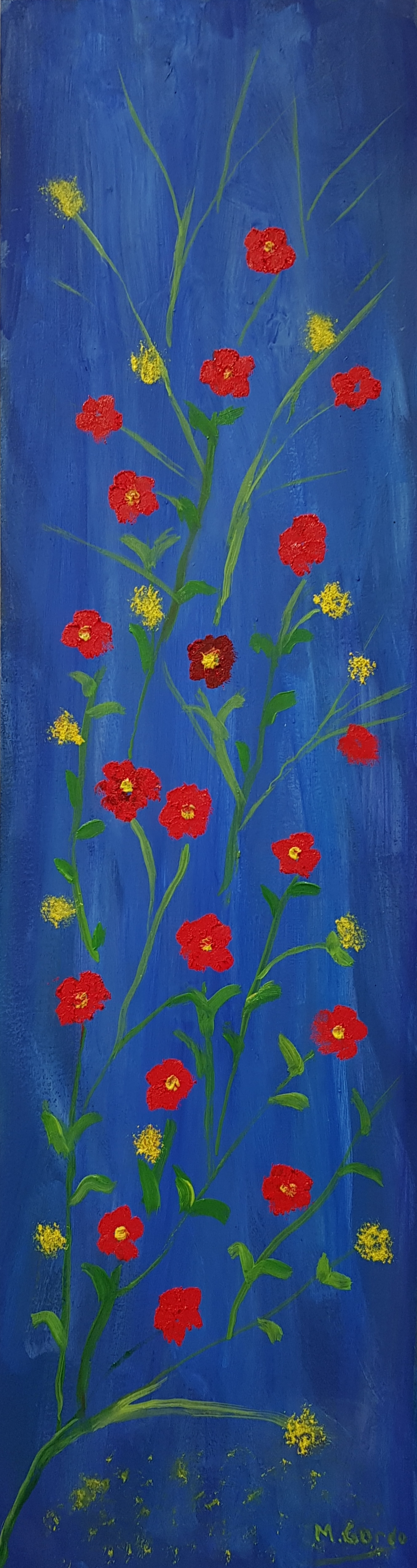 Flowers. 12 red