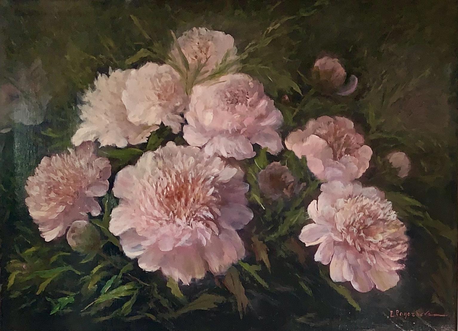 Las peonías rosadas