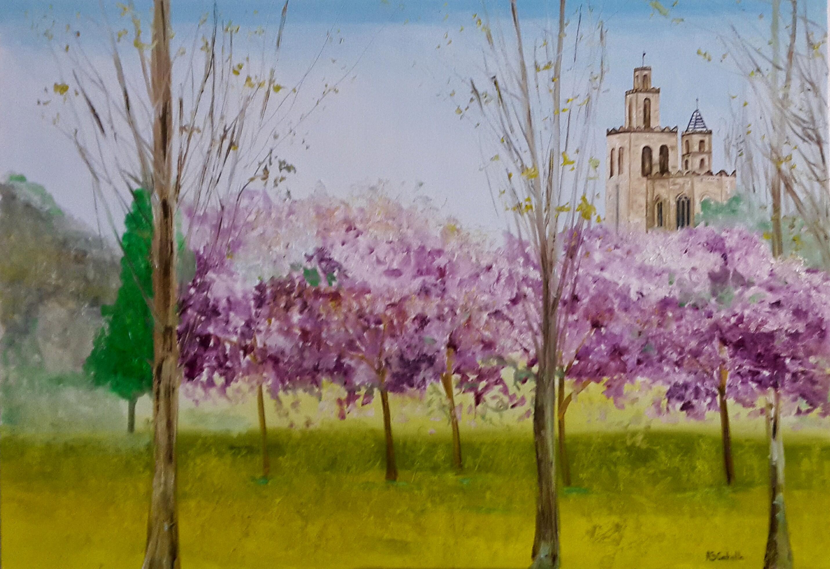 Monasterio sant cugat del valles cuadro original leo - Cugat del valles ...