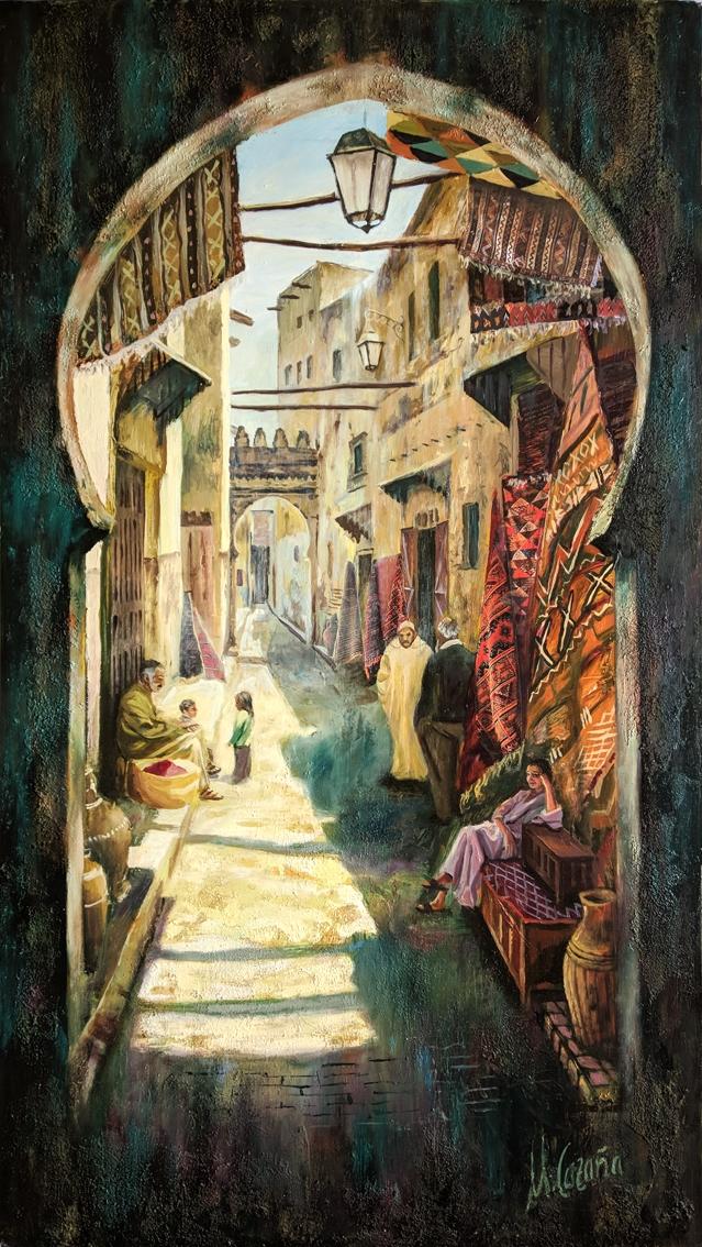 Una calle de Fez, Marruecos