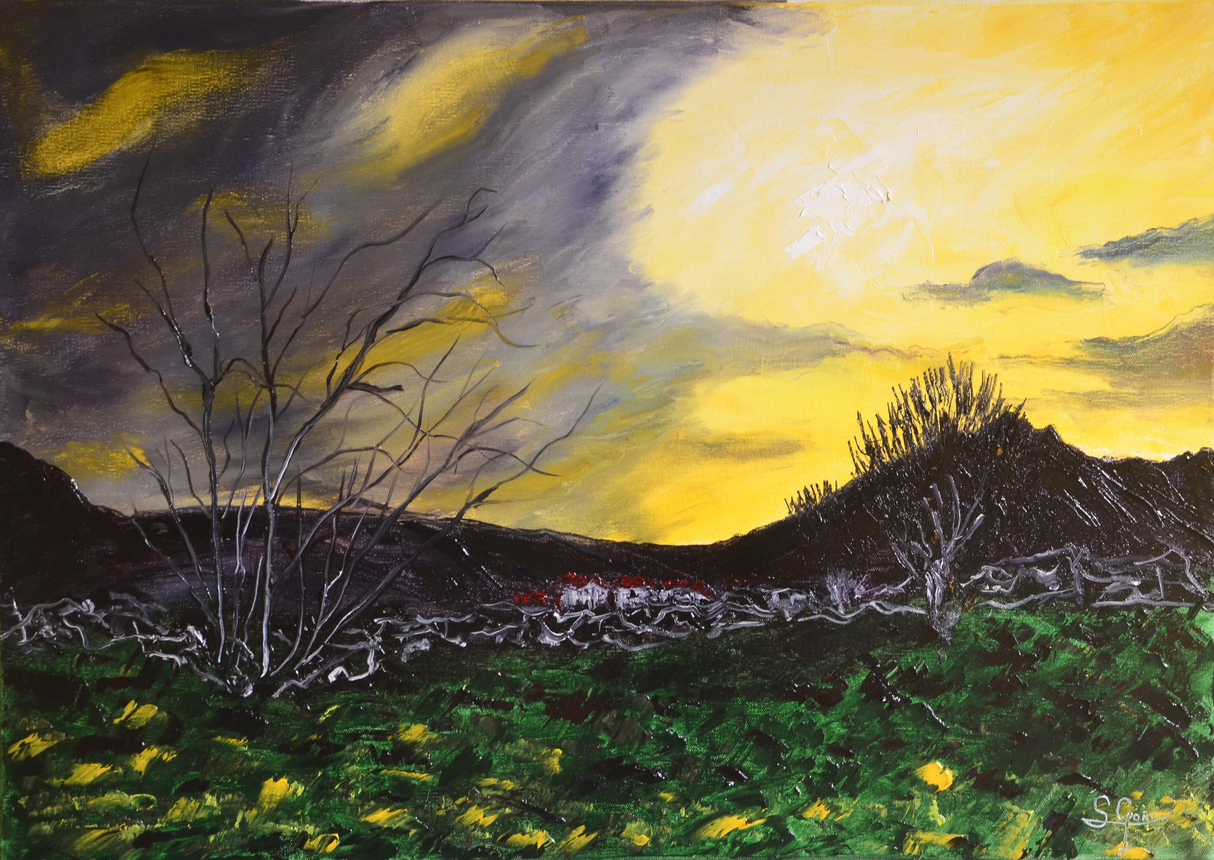 Helguera at sunset