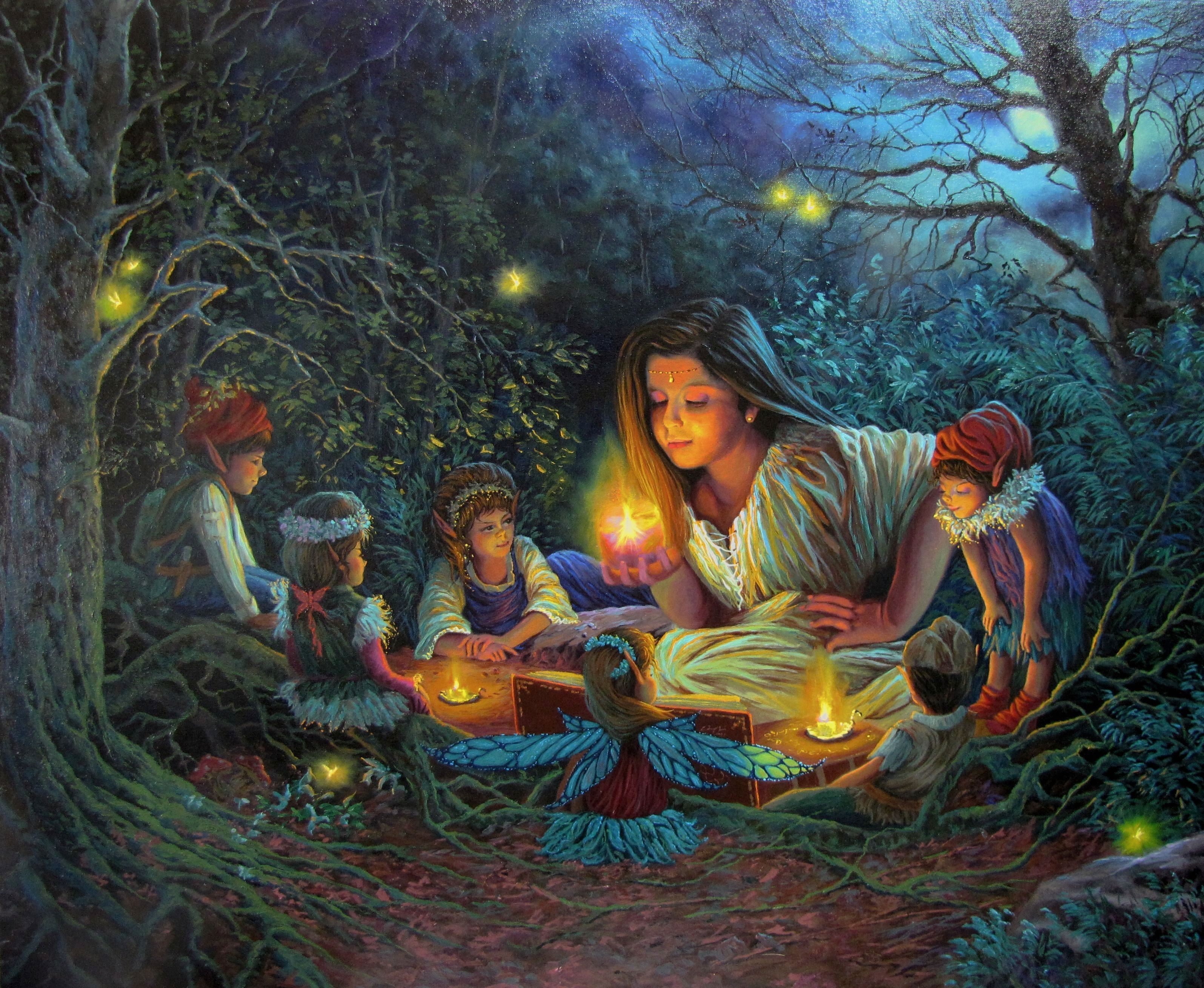 Reading a story to FRIENDS OF THE FOREST