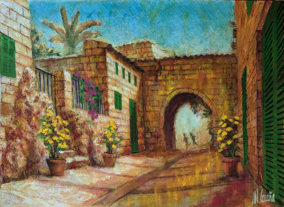 Ariany. Village of Mallorca. Original paintings online