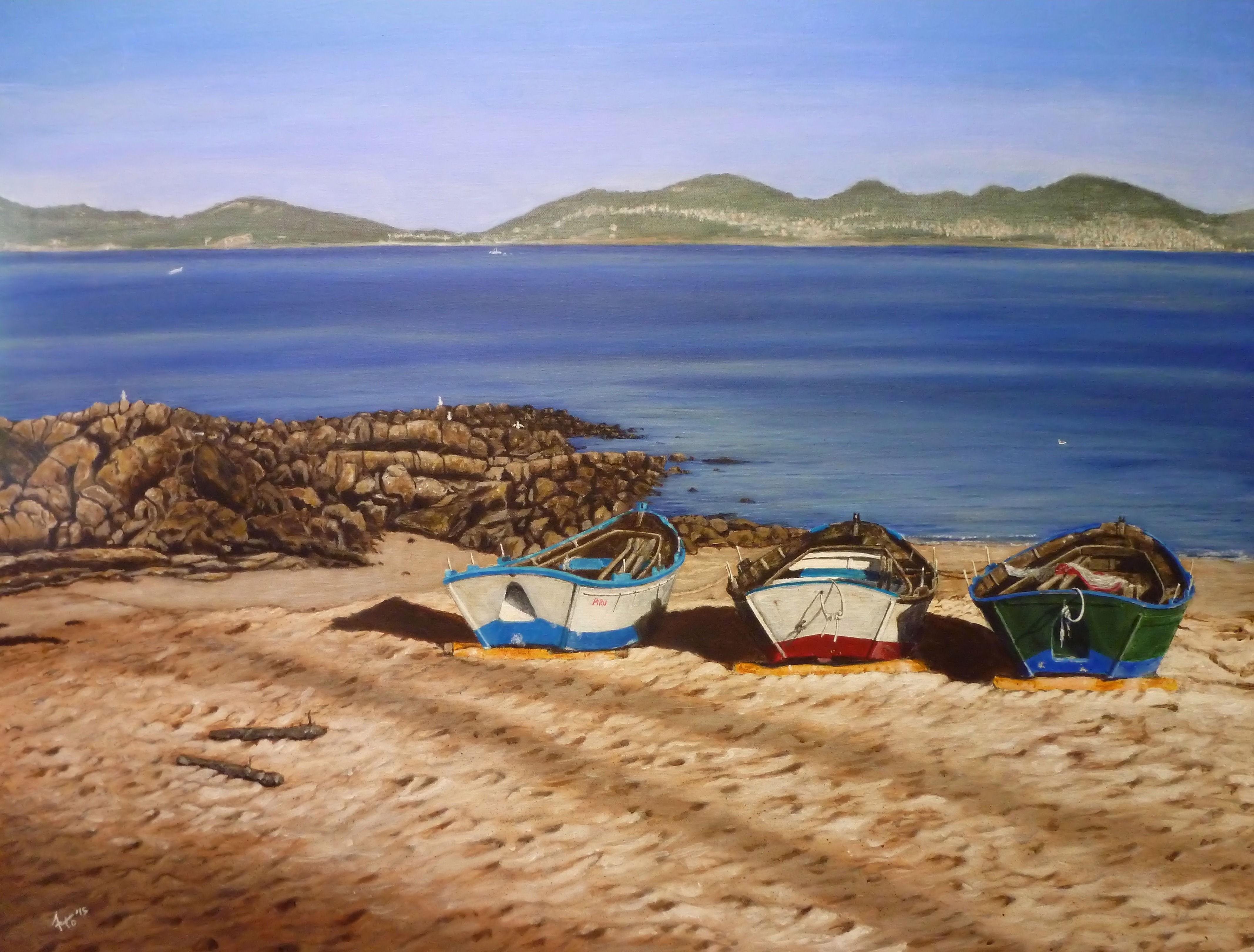 Barcas en la arena