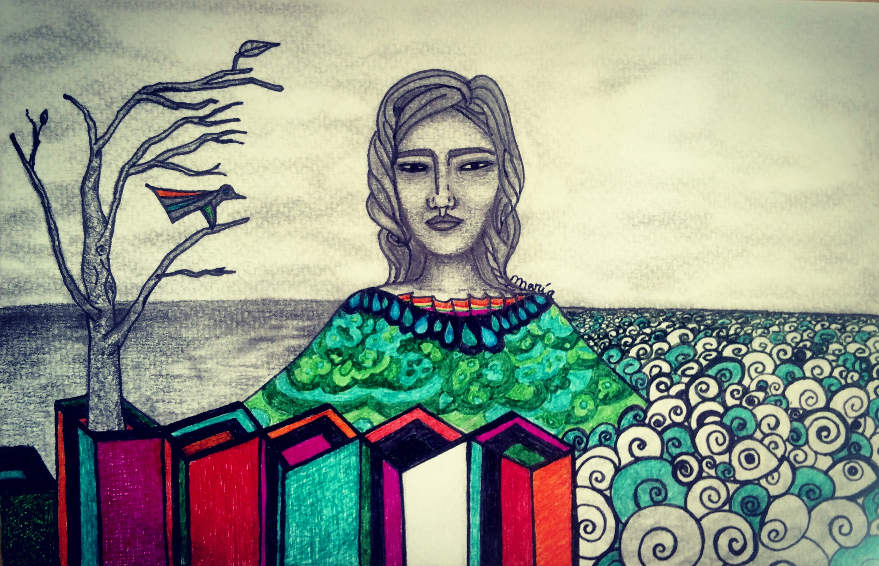 mujer isla