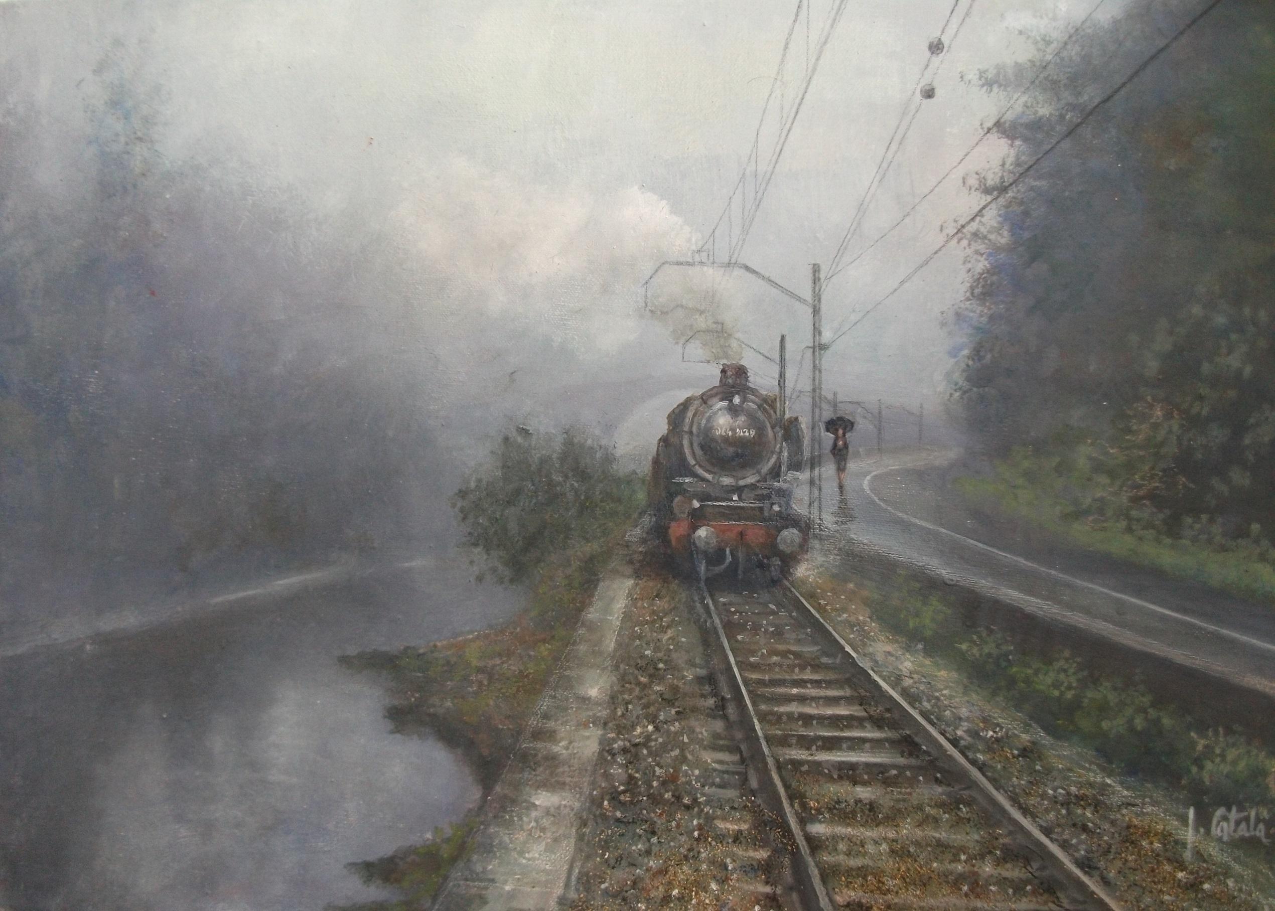 No. 25. Rainy Day 40 54 cm x
