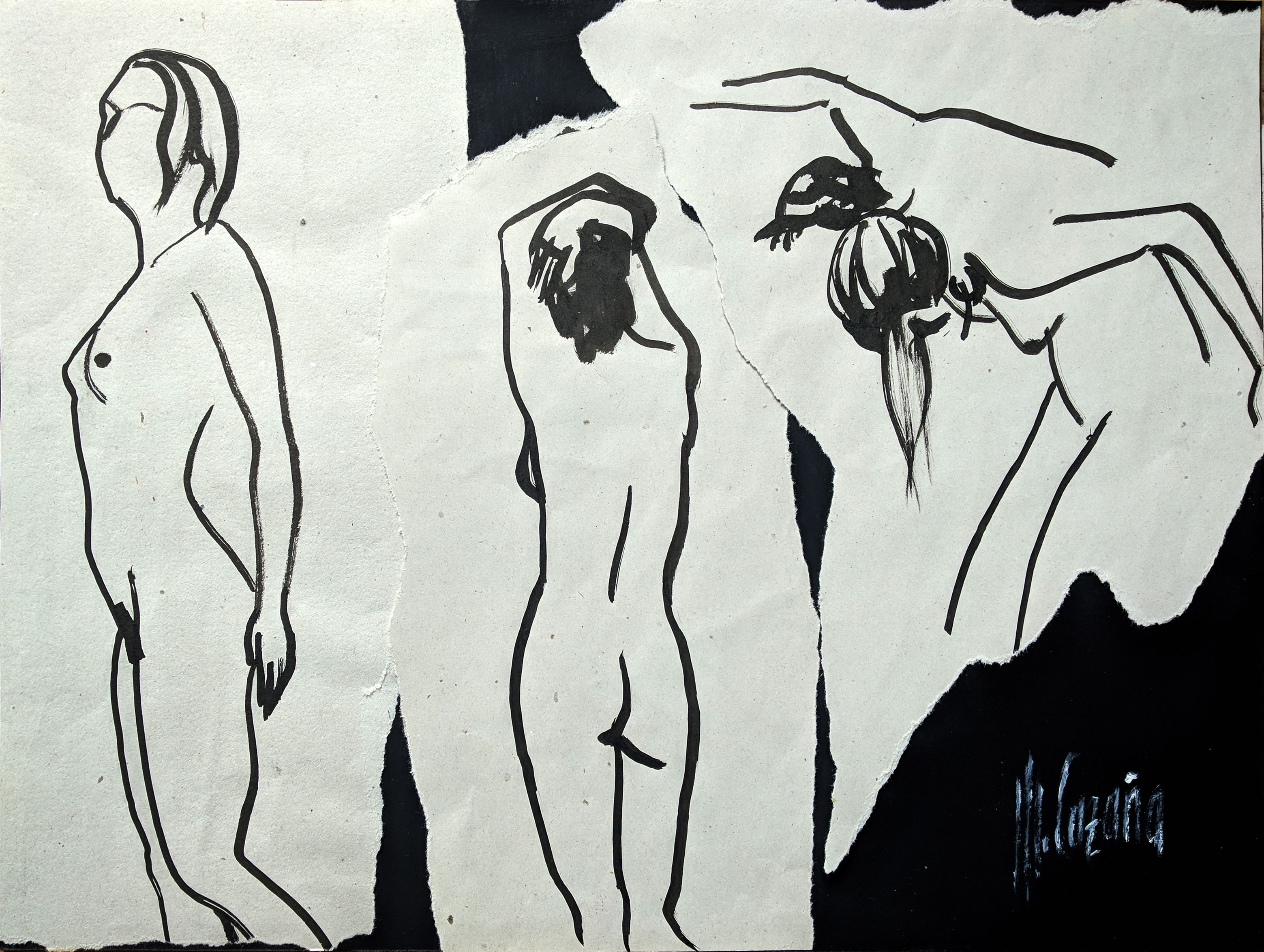 3 desnudos de mujer