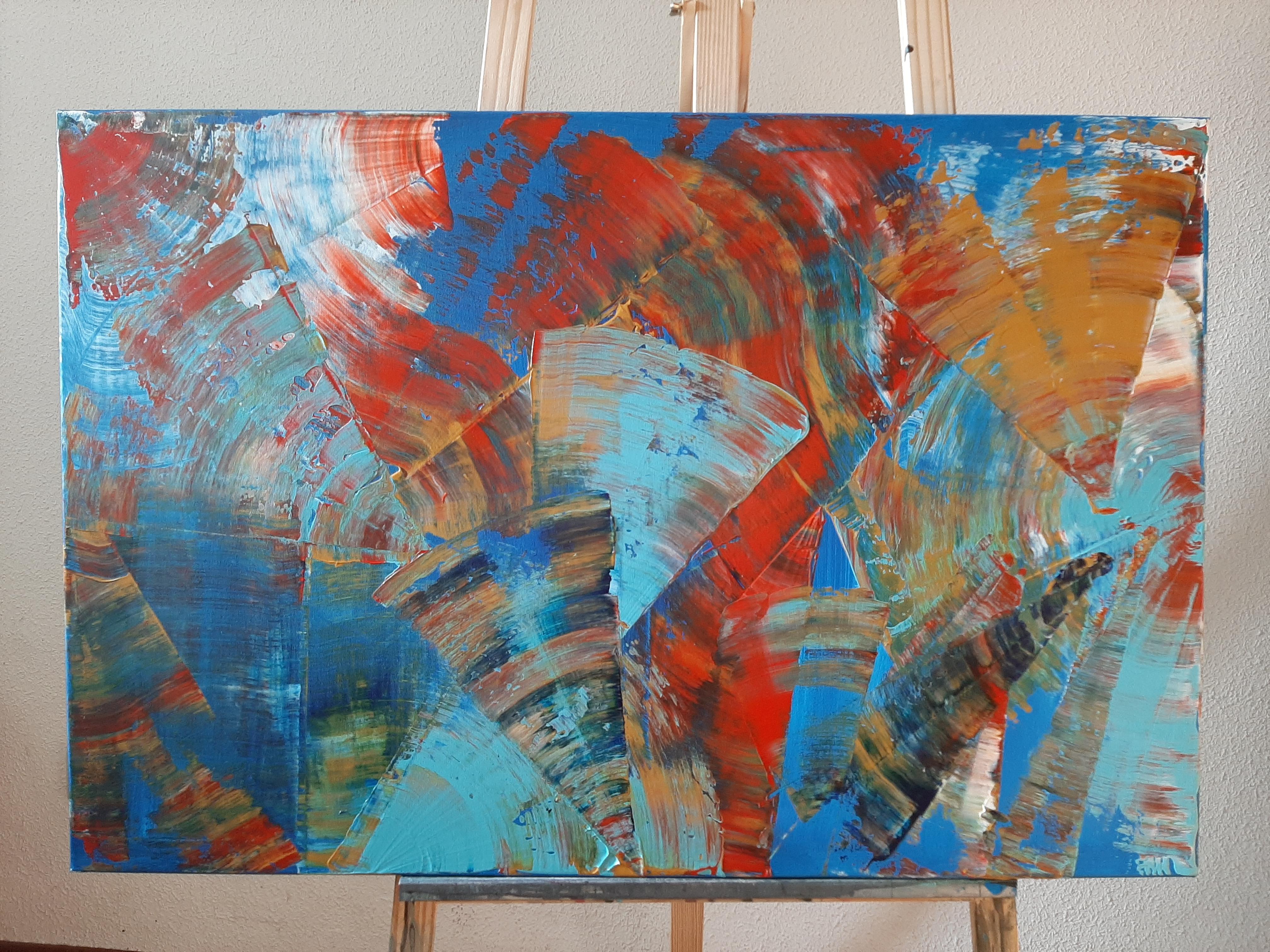 Sueños próximos en Azul, 90x60, 200 euros