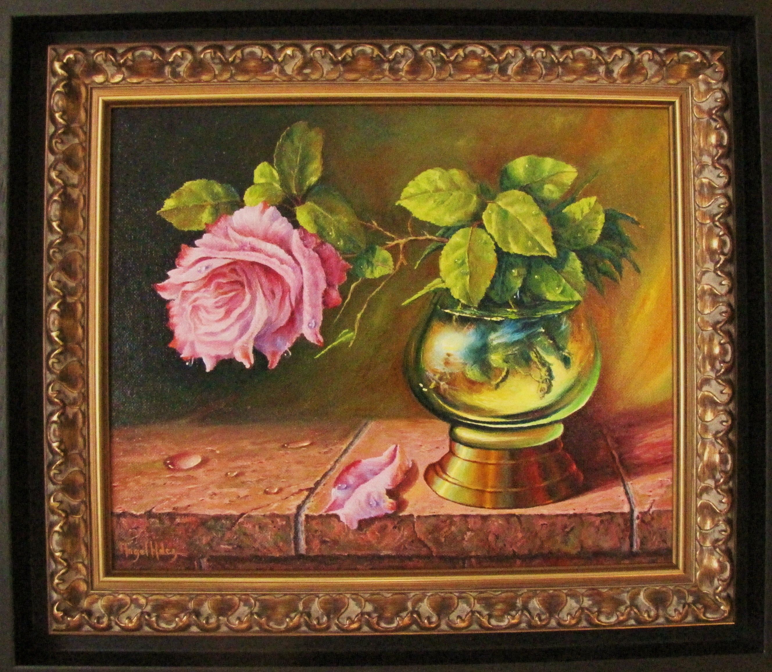 STILL LIFE WITH ROSE IN CUP