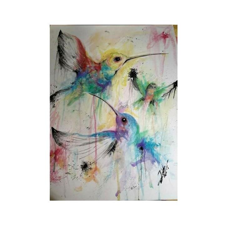 cuadros originales de palomas - Cuadros Originales