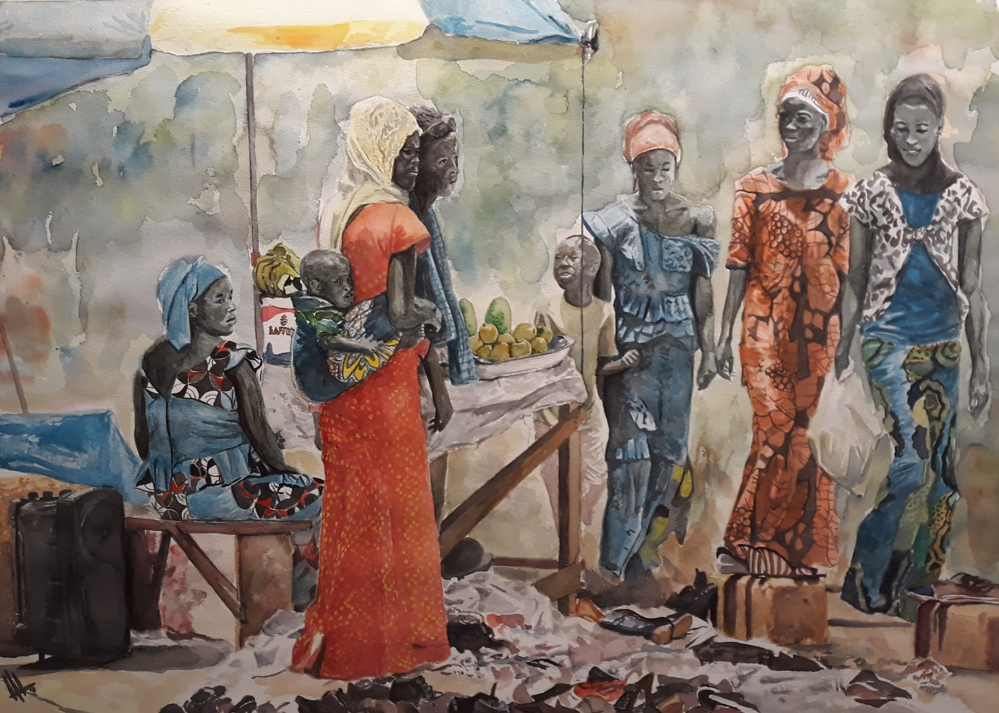 Venta callejera en Senegal