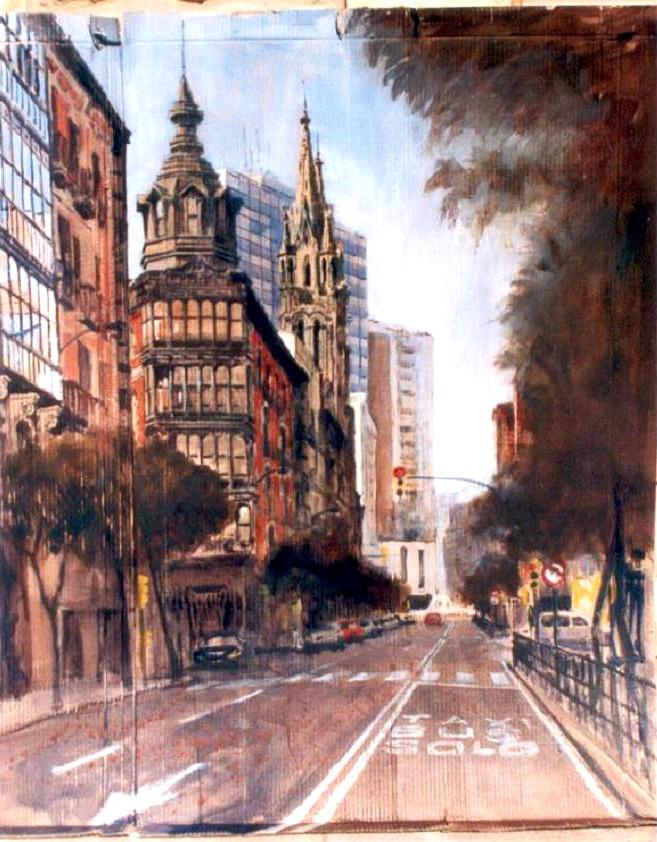Calle Hurtado de Amezaga de Bilbao (Vizcaya)