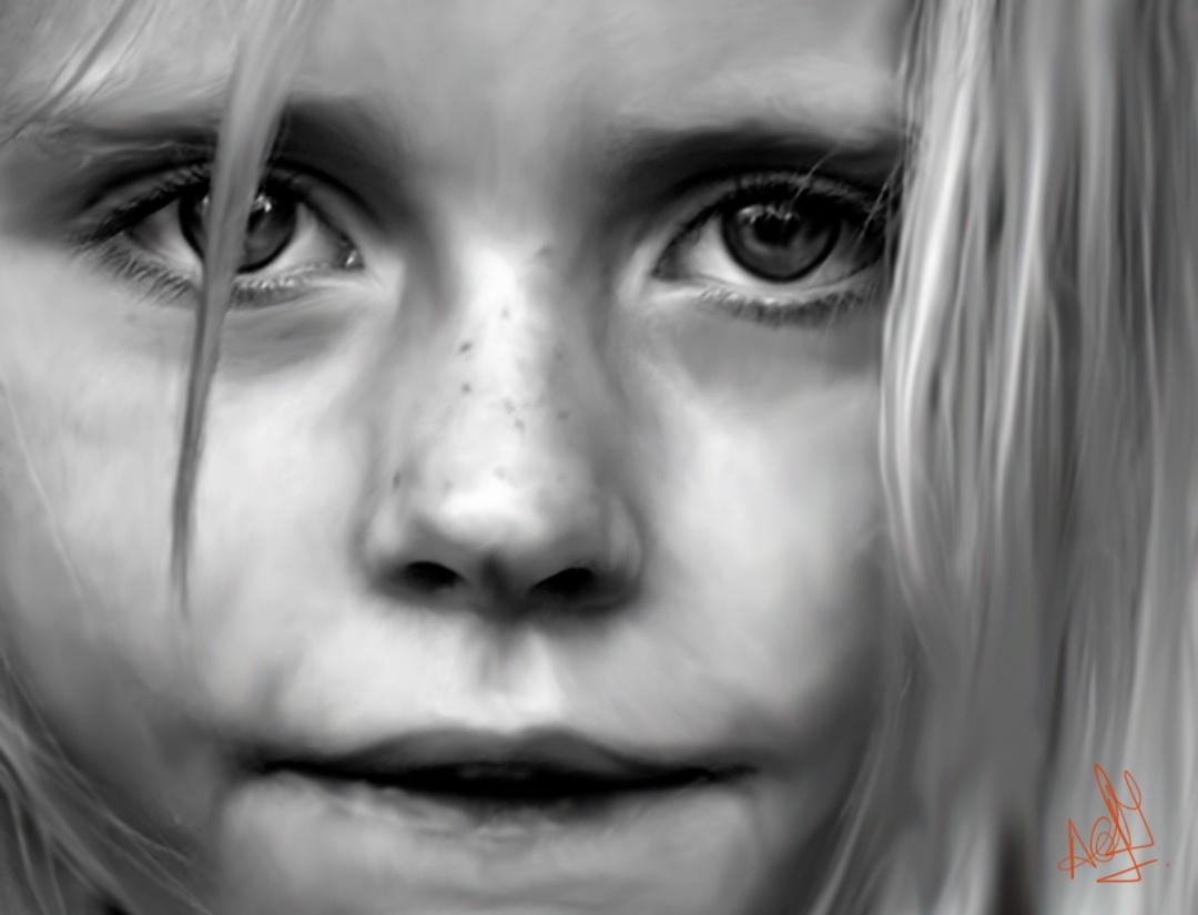Realistic portraits to suit of client
