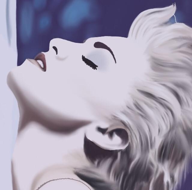 Recreacion portada TRUE BLUE de Madonna