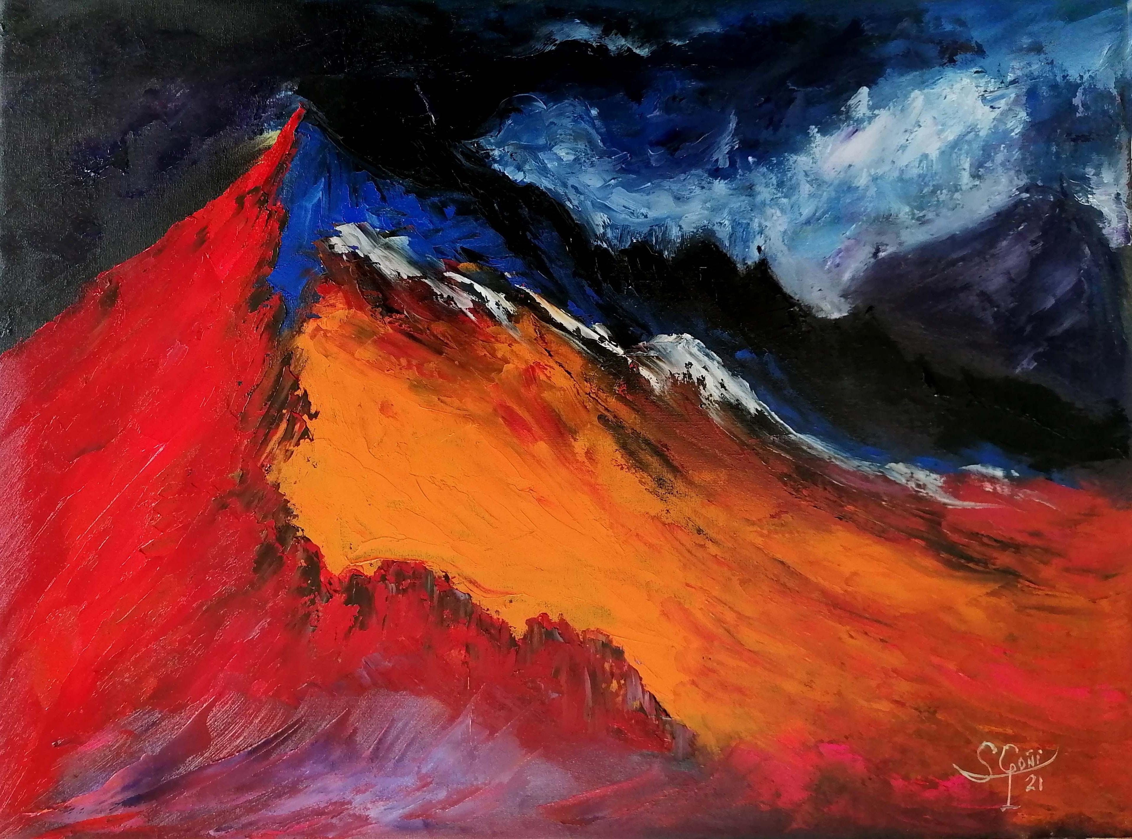Montaña roja.