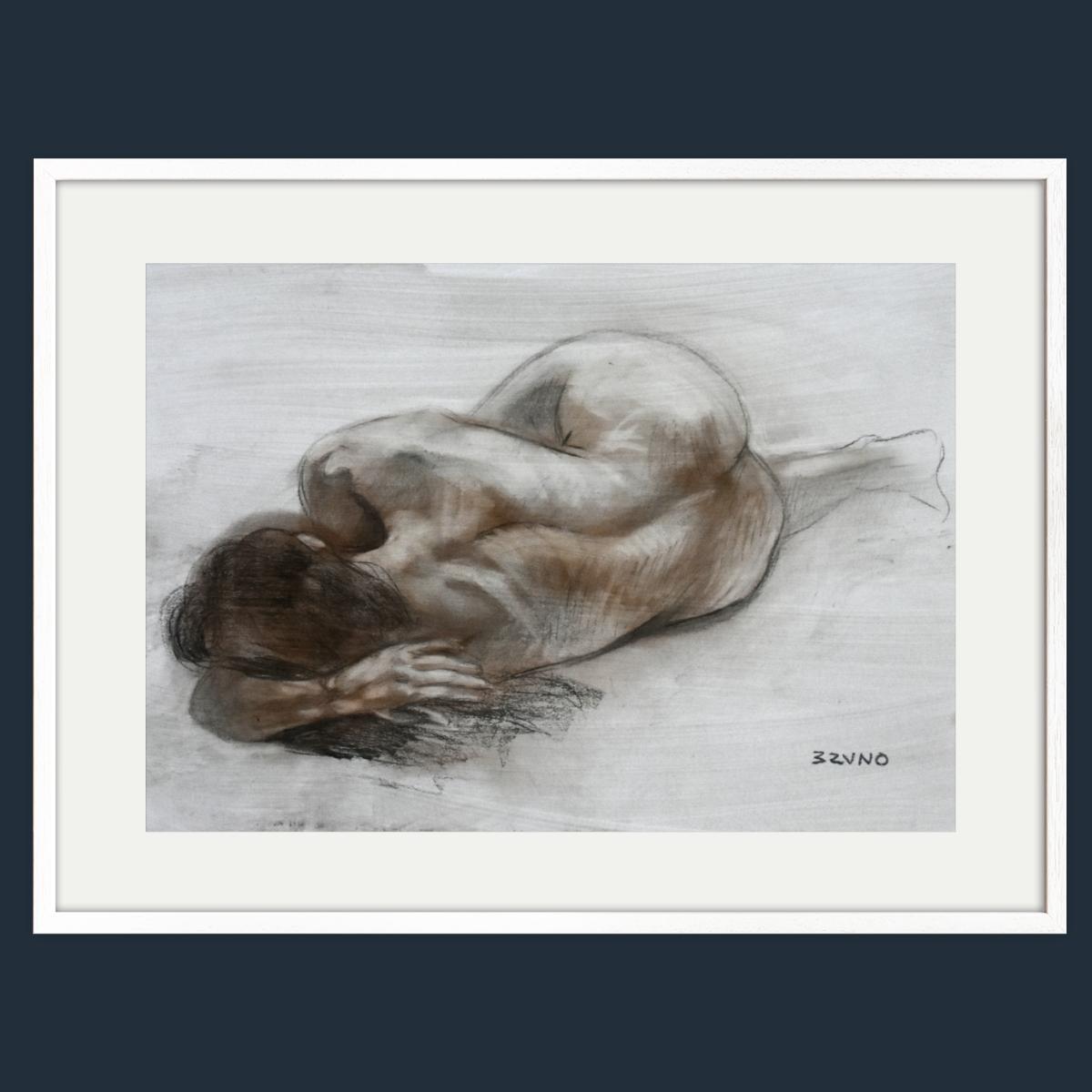 Female Nude in Foreshortening 1