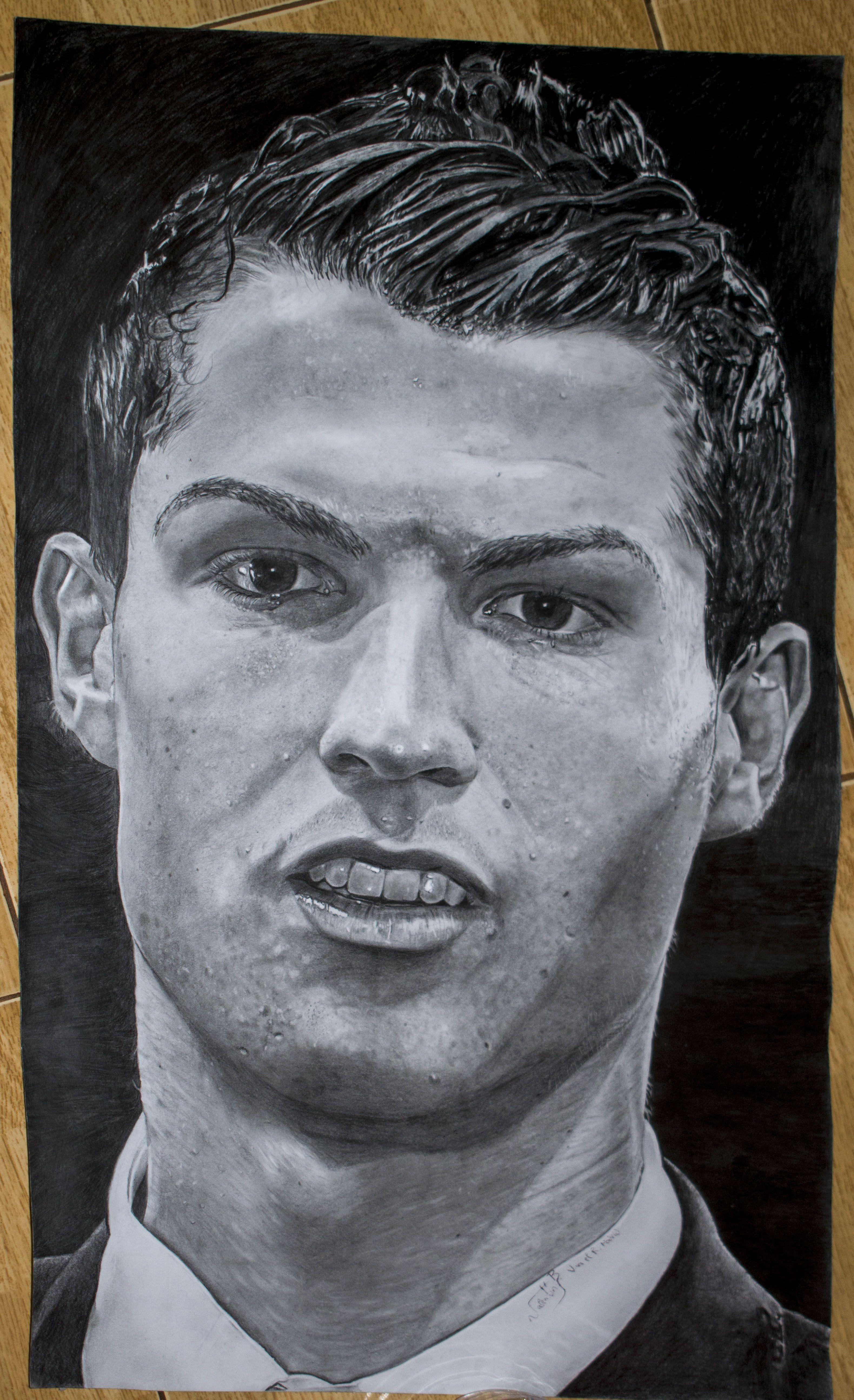 Cristiano Ronaldo Pencil Drawings Buy Original Art