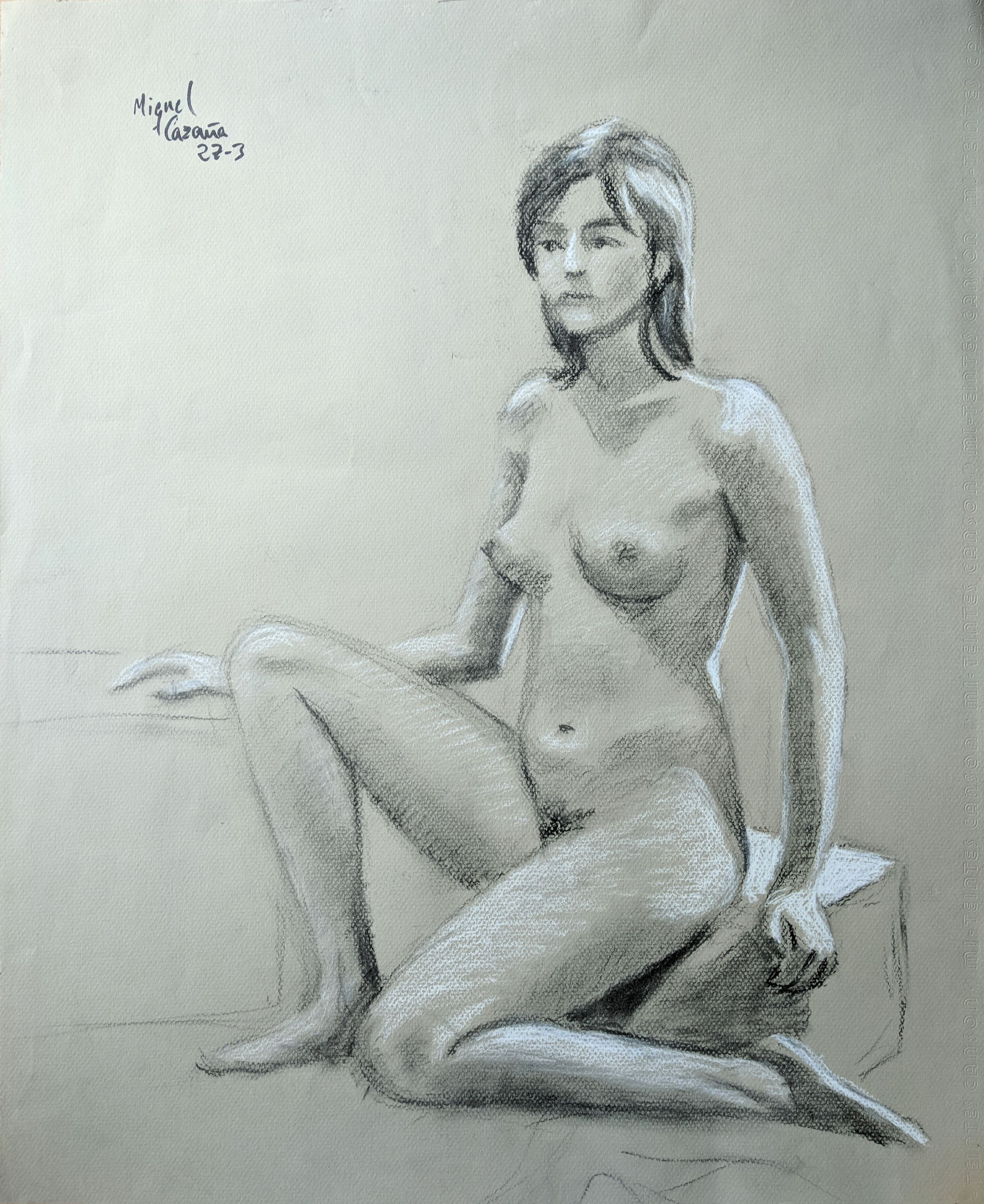 Naked woman. Original drawings online