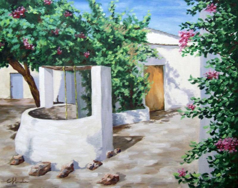 Patio andaluz cuadro original leo sobre lienzo comprar - Oleos de jardines ...