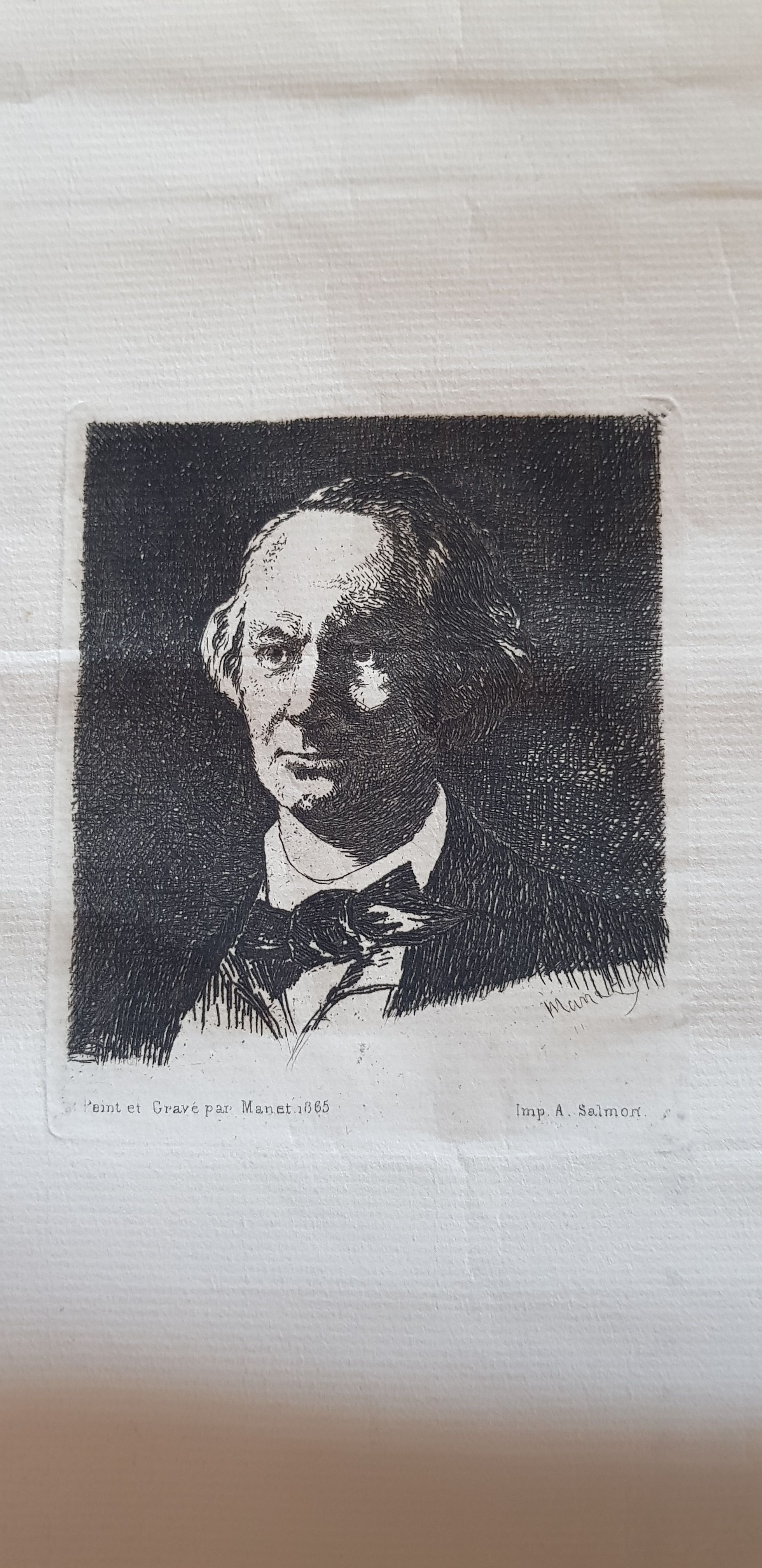 Charles Baudelaire of face. Edouard Manet. 1865