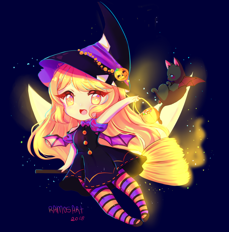 Halloween!!!! Chibi Art Comission!