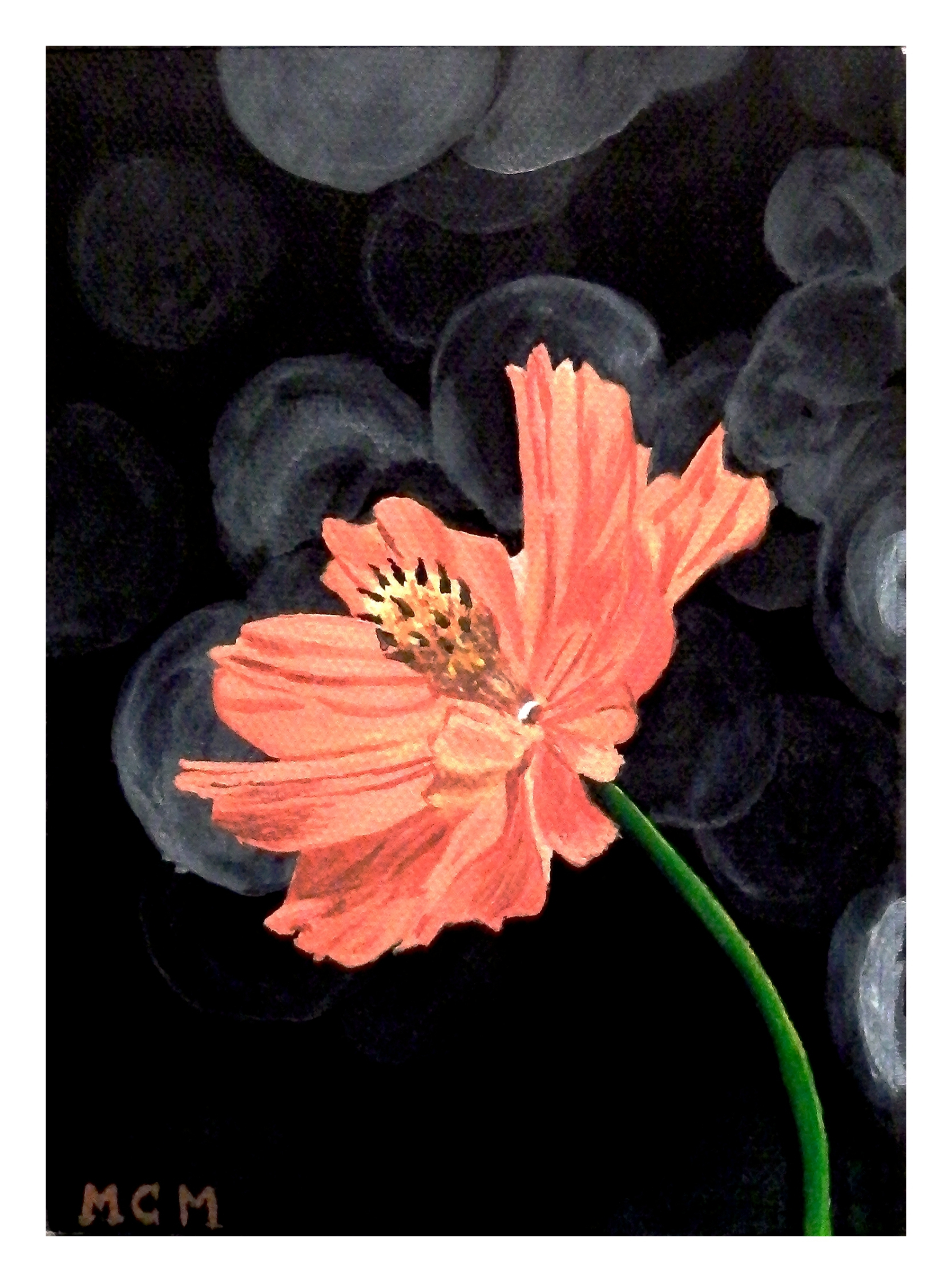 WILD ORANGE FLOWER acrylic-floral-