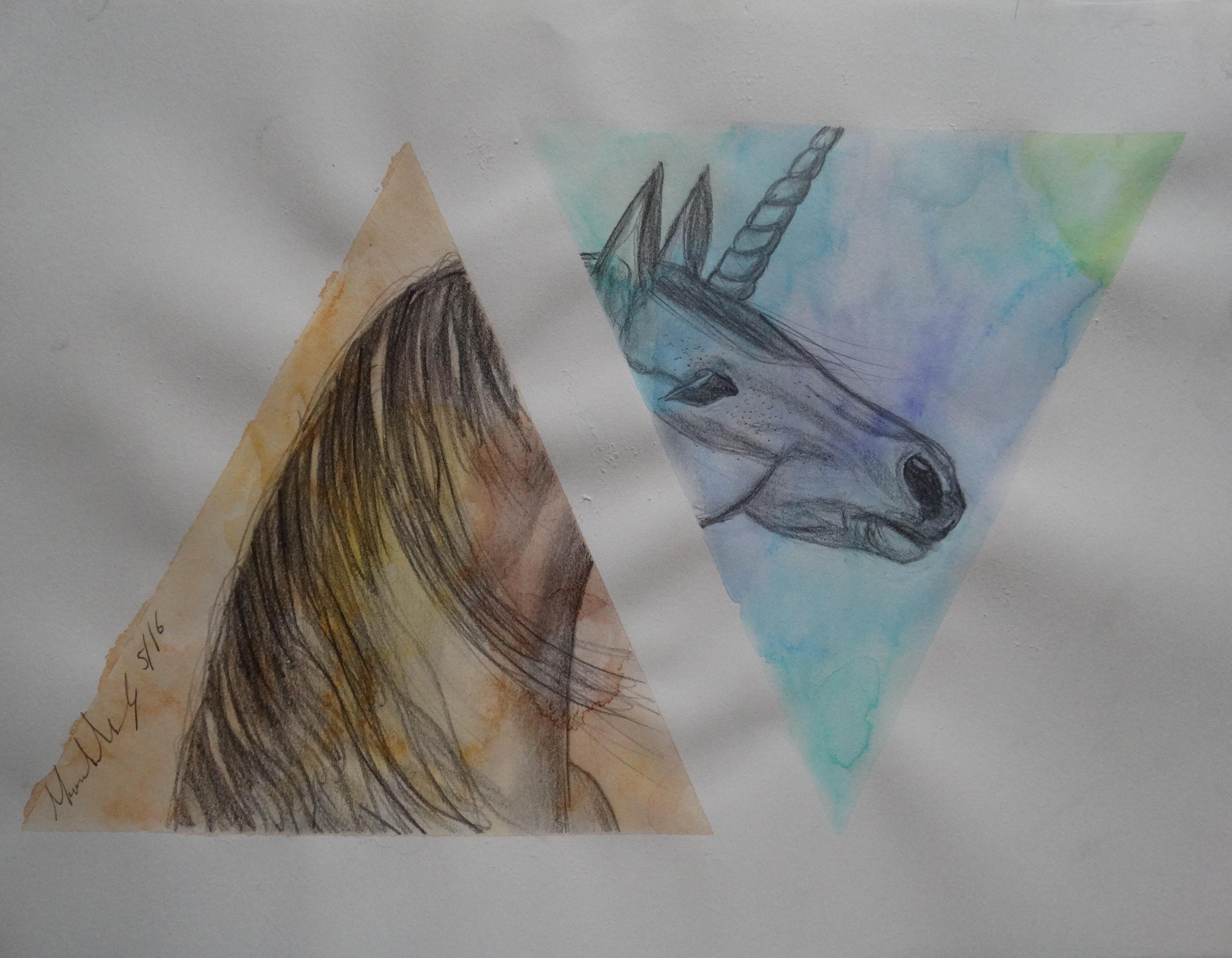Unicornio, Técnica Mixta, Dibujos, Comprar Arte Original