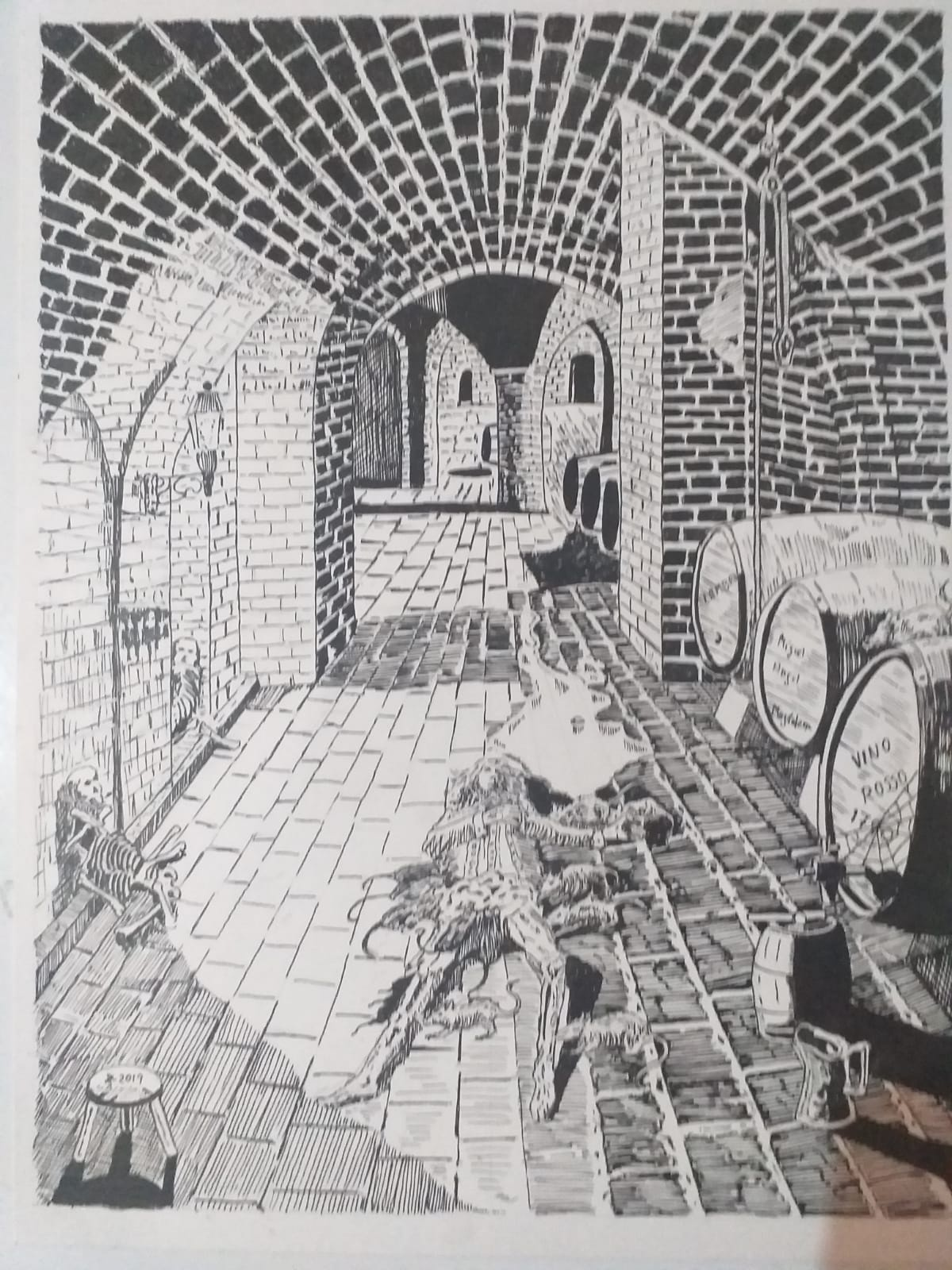 Banquet in the cellar