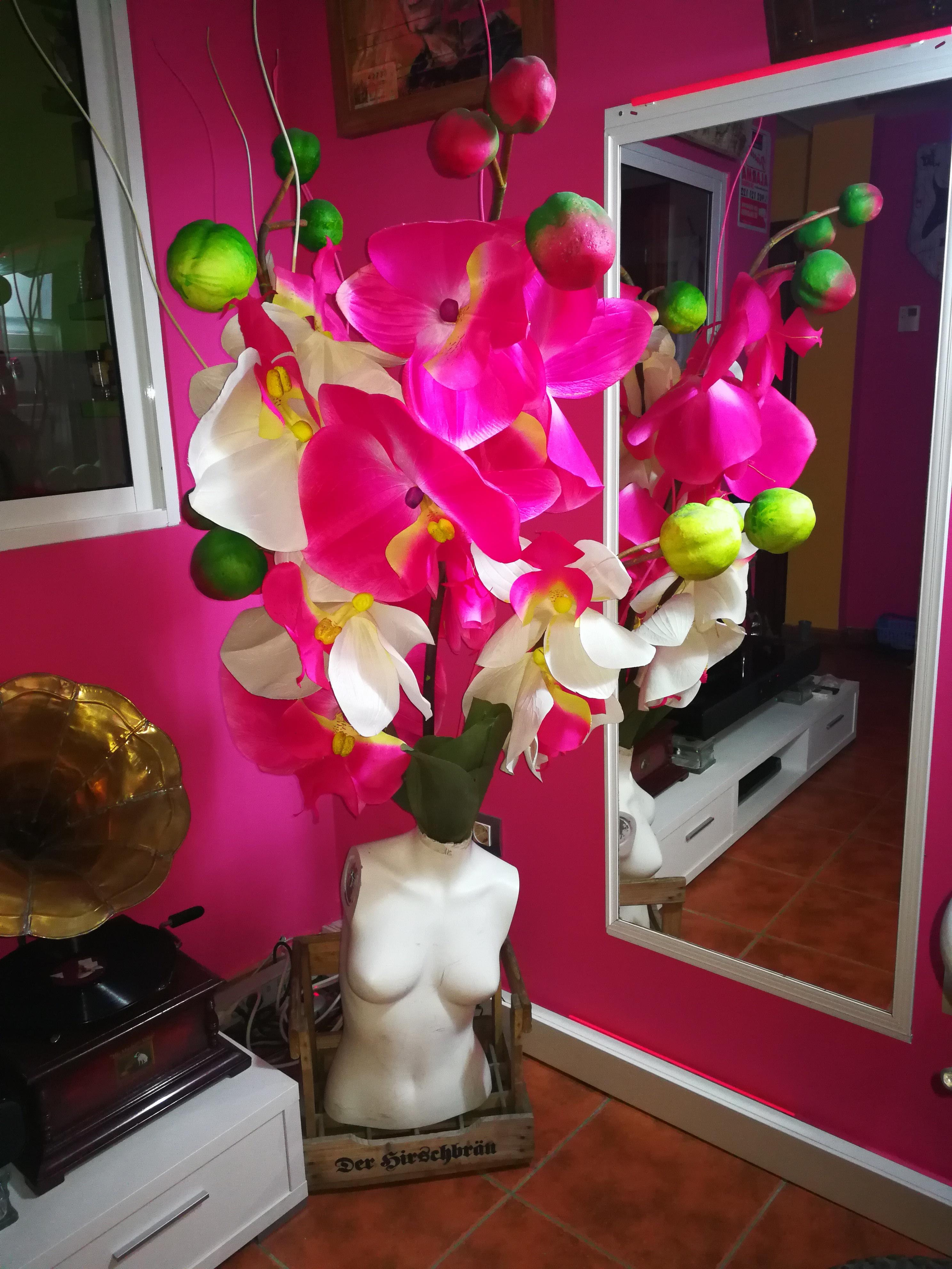 Escultura flores alta decoración Jsus.art.deluxe.exclusive