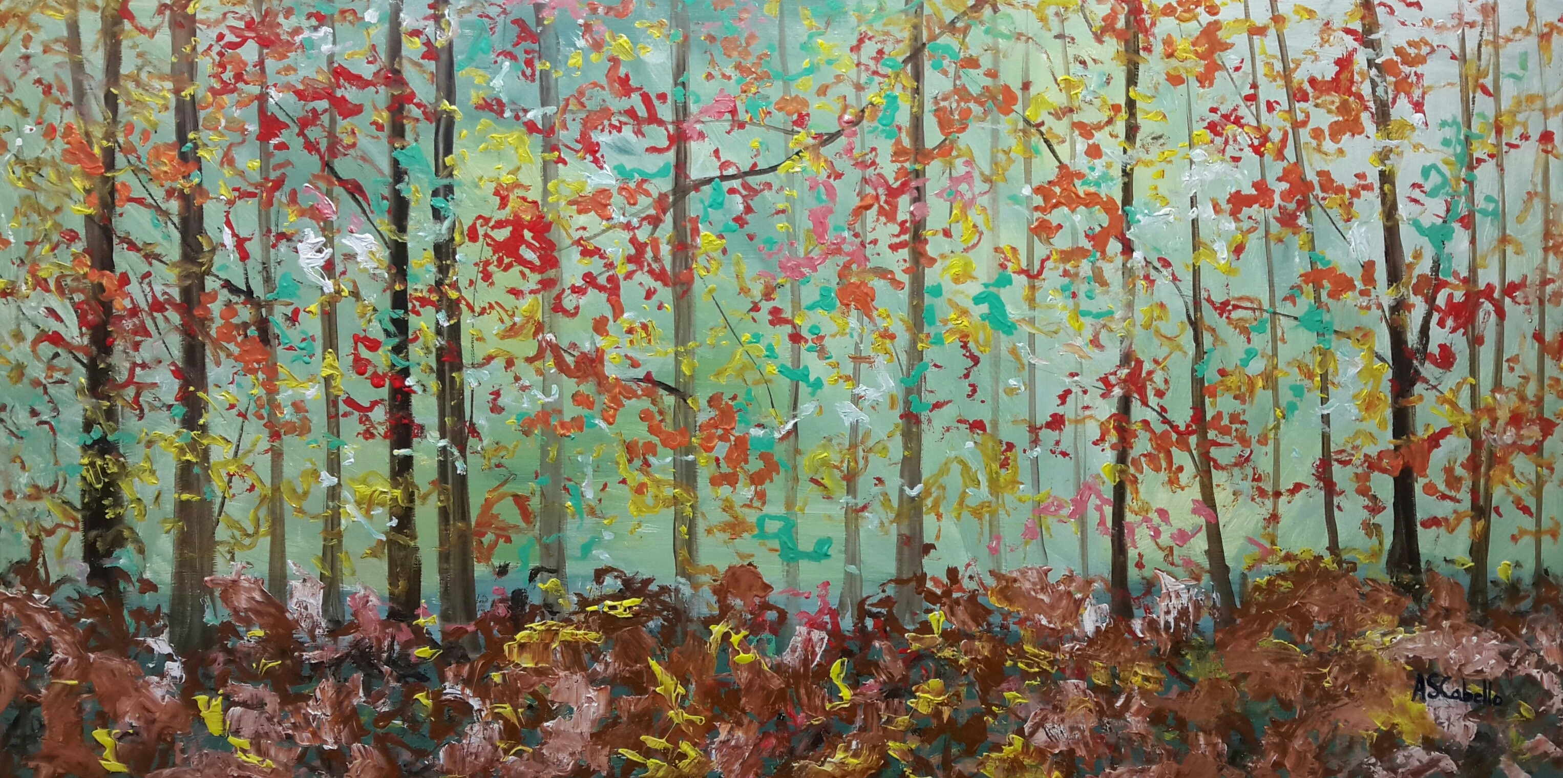 Vientos con caídas de hojas