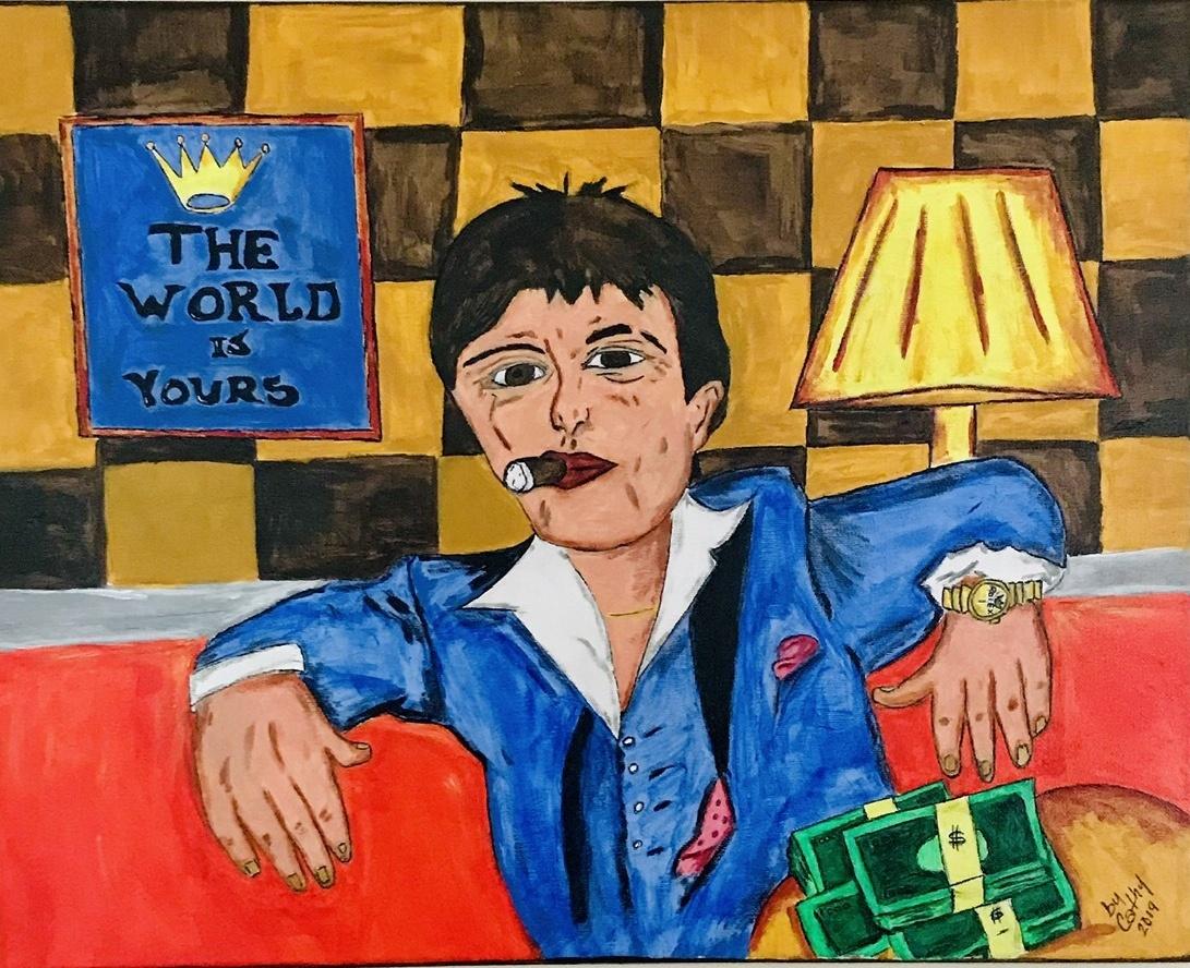 Tony Montana Pintura