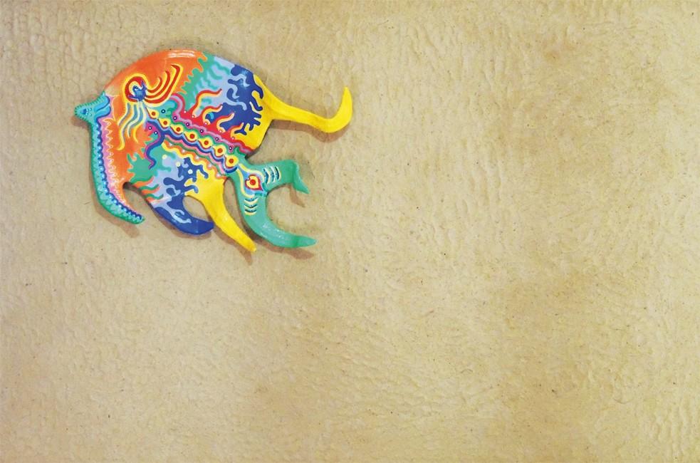 Fish of the sun on dunes